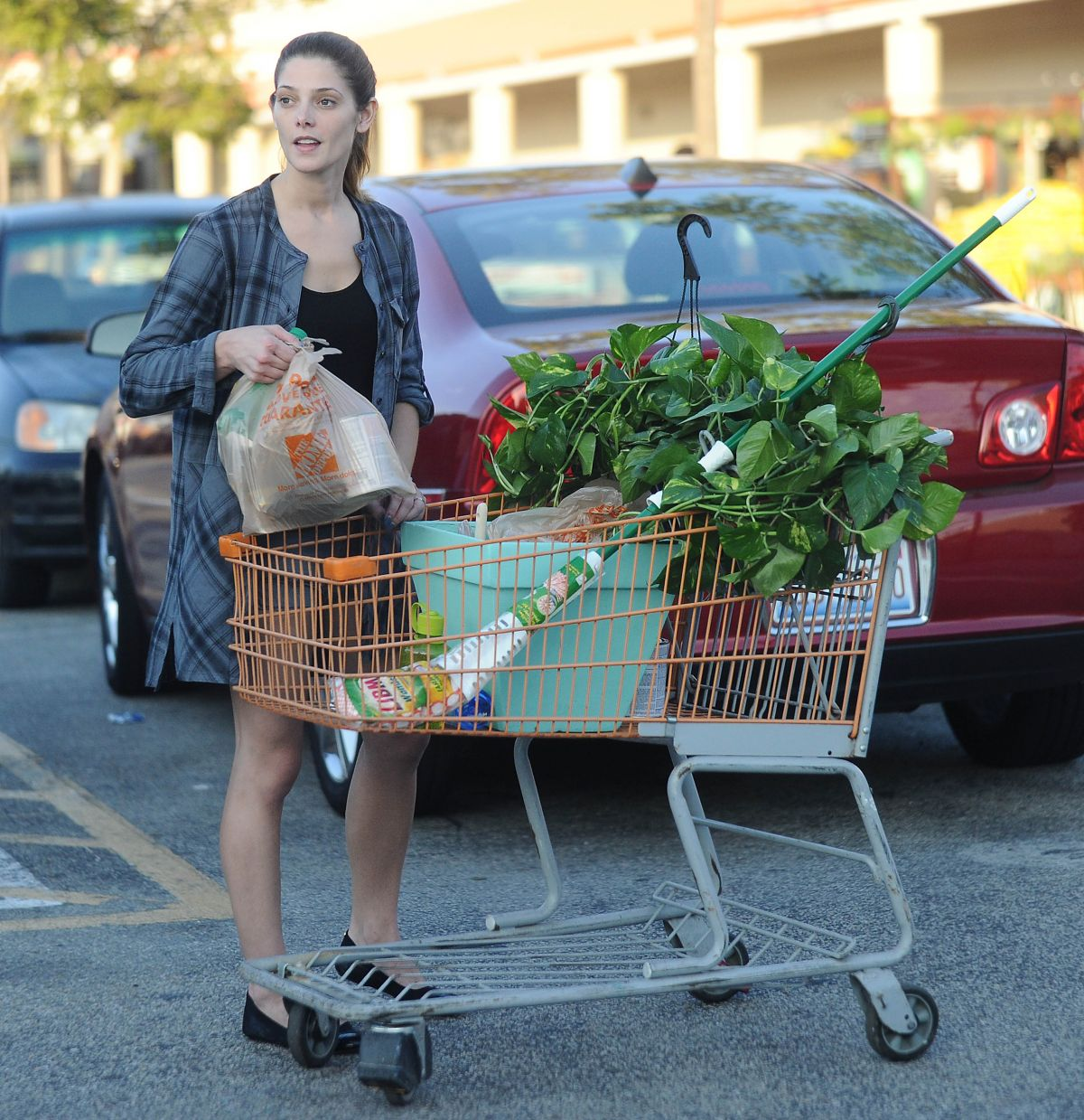 ashley greene out shopping at home depot in burbank 10 18 2015 hawtcelebs. Black Bedroom Furniture Sets. Home Design Ideas