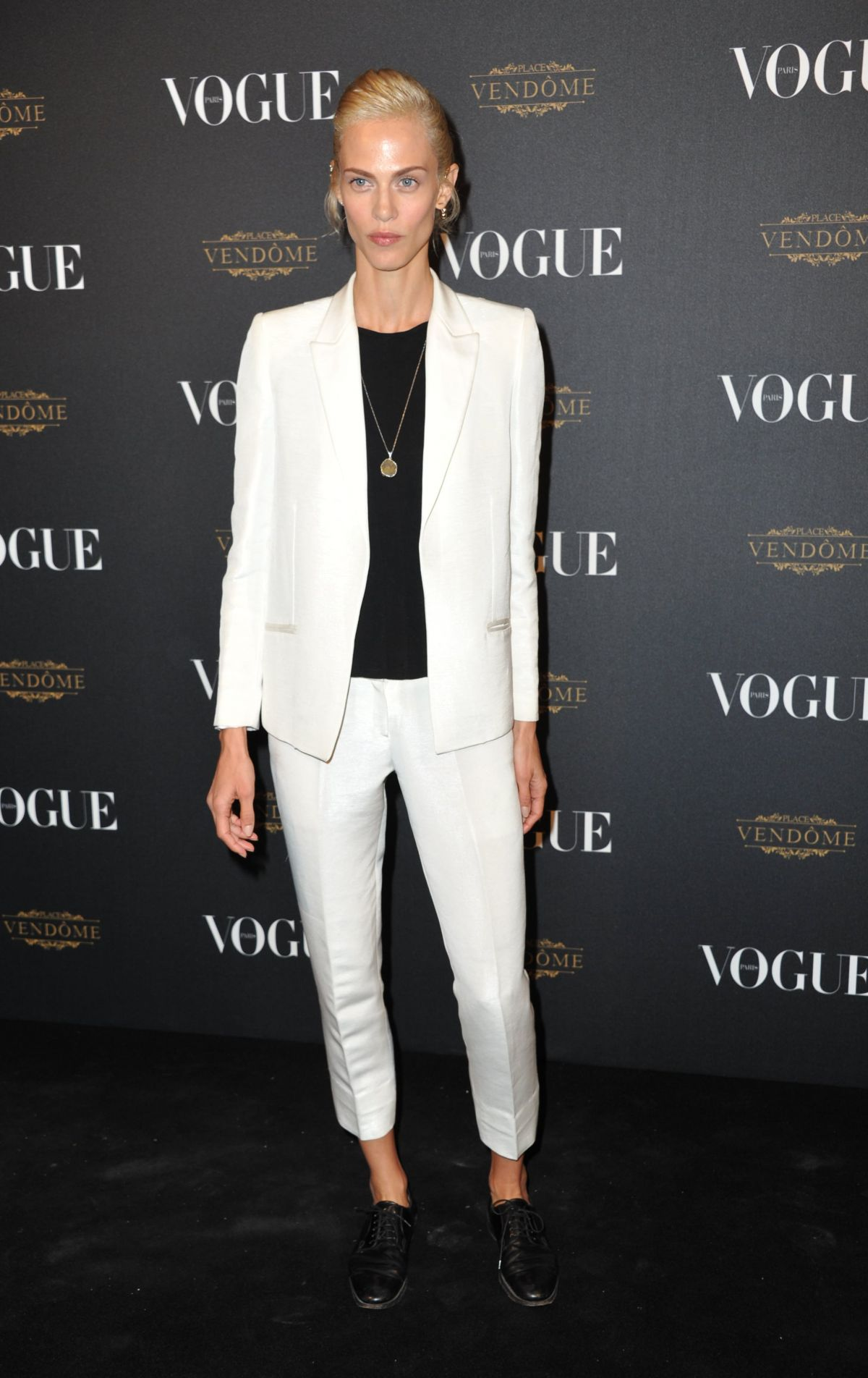 AYMELINE VALADE at Vogue's 95th Anniversary Party in Paris 10/03/2015