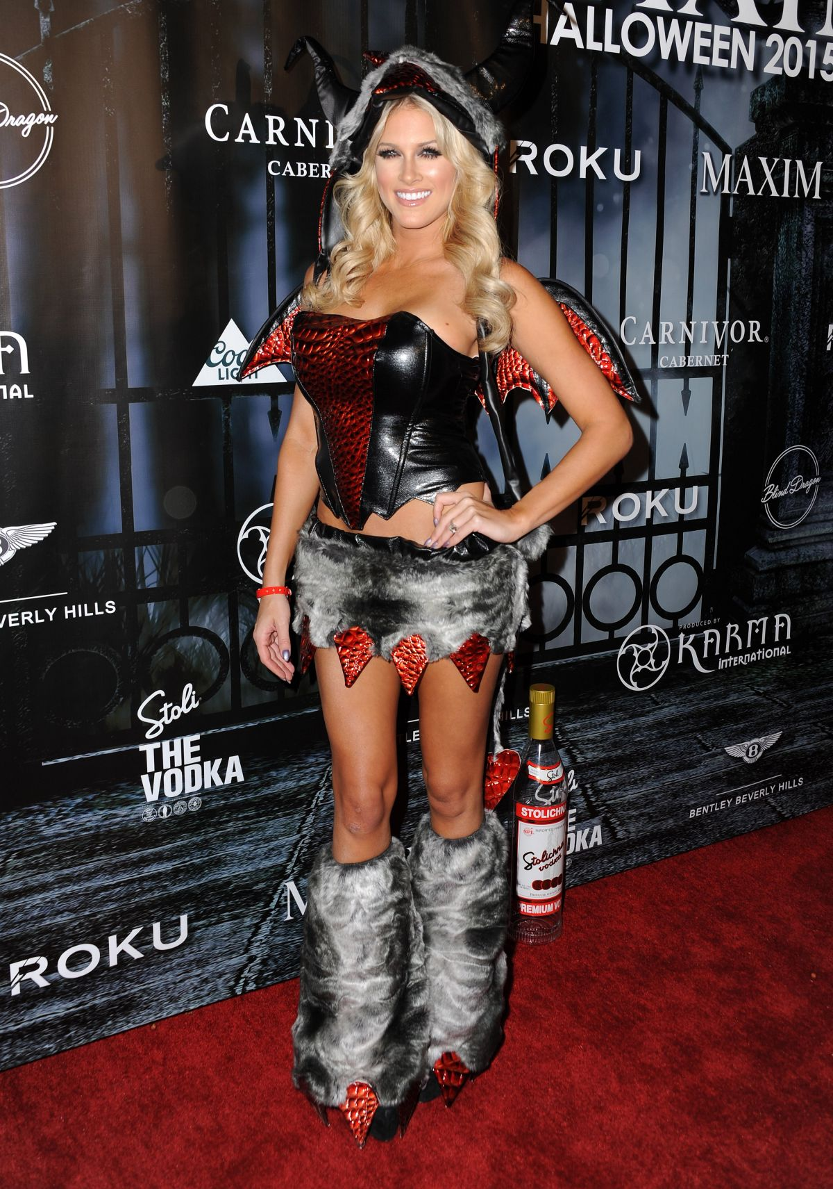 BARBIE BLANK at Maxim Magazine's Official Halloween Party in Beverly Hills 10/24/2015