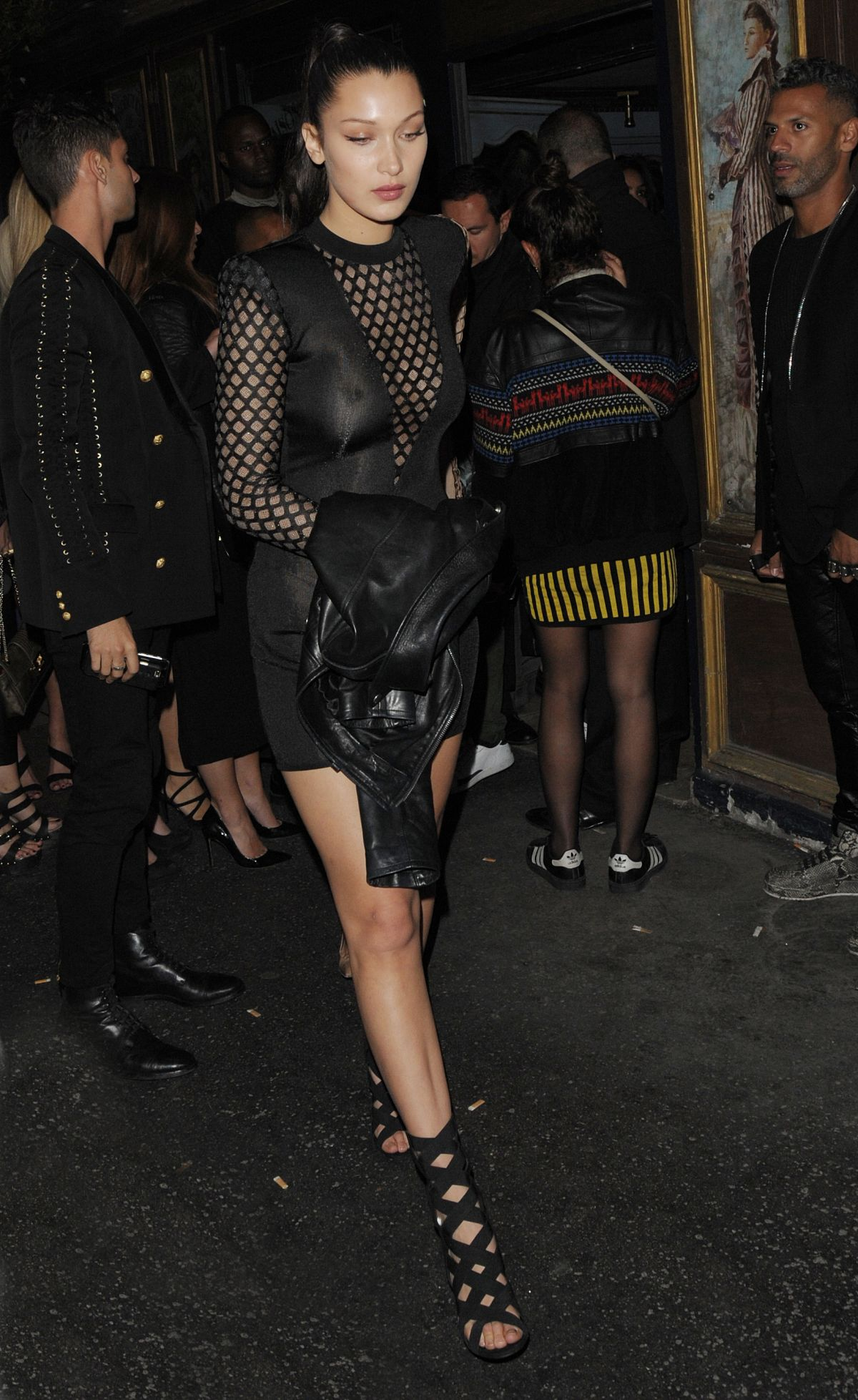 many styles 100% high quality fashion styles BELLA HADID at Balmain Fashion Show After-party in Paris 10 ...