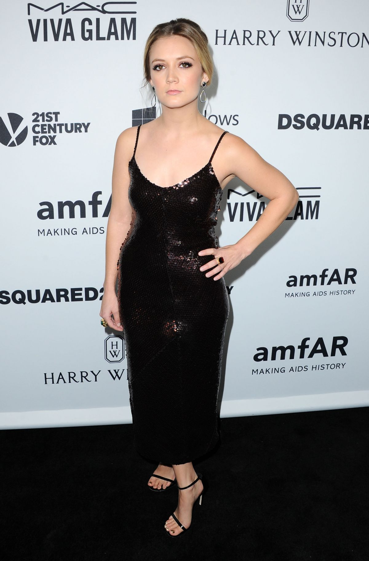 BILLIE CATHERINE LOURD at amfAR's Inspiration Gala in Hollywood 10/29/2015