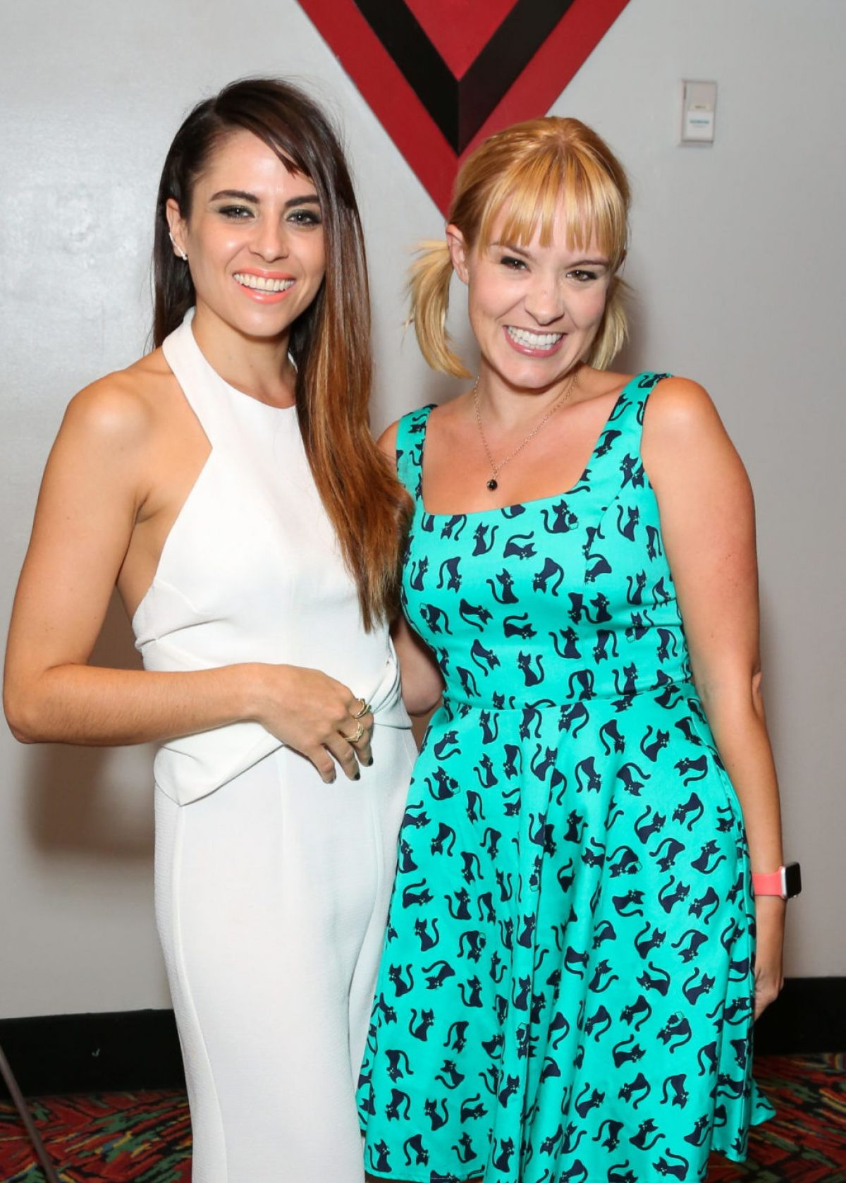 BREA GRANT and ASHLEY C WILLIAMS at Julia Screening in Burbank 10/24/2015