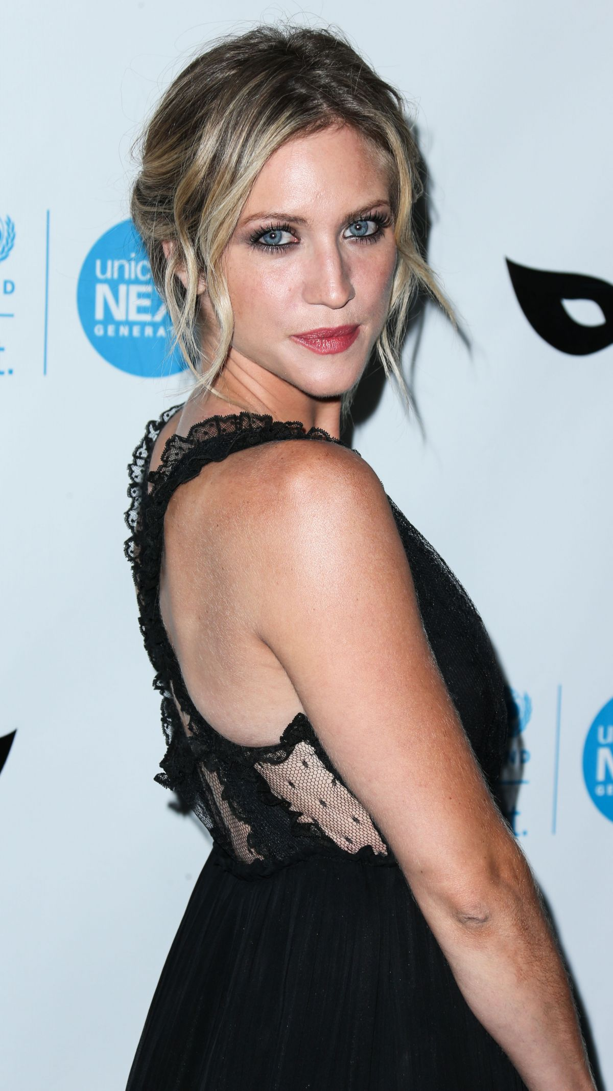 BRITTANY SNOW at Unicef Black & White Masquerade Ball in ... Brittany Snow