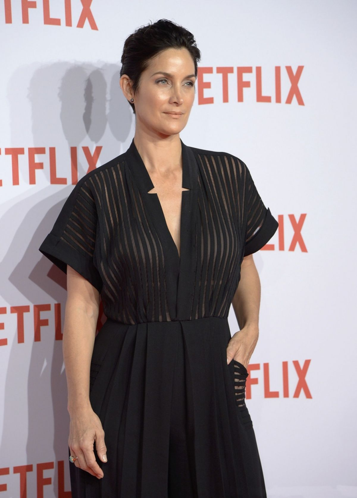 CARRIE-ANNE MOSS at Netflix at Netflix Spain's Presentation in Madrid 10/20/2015
