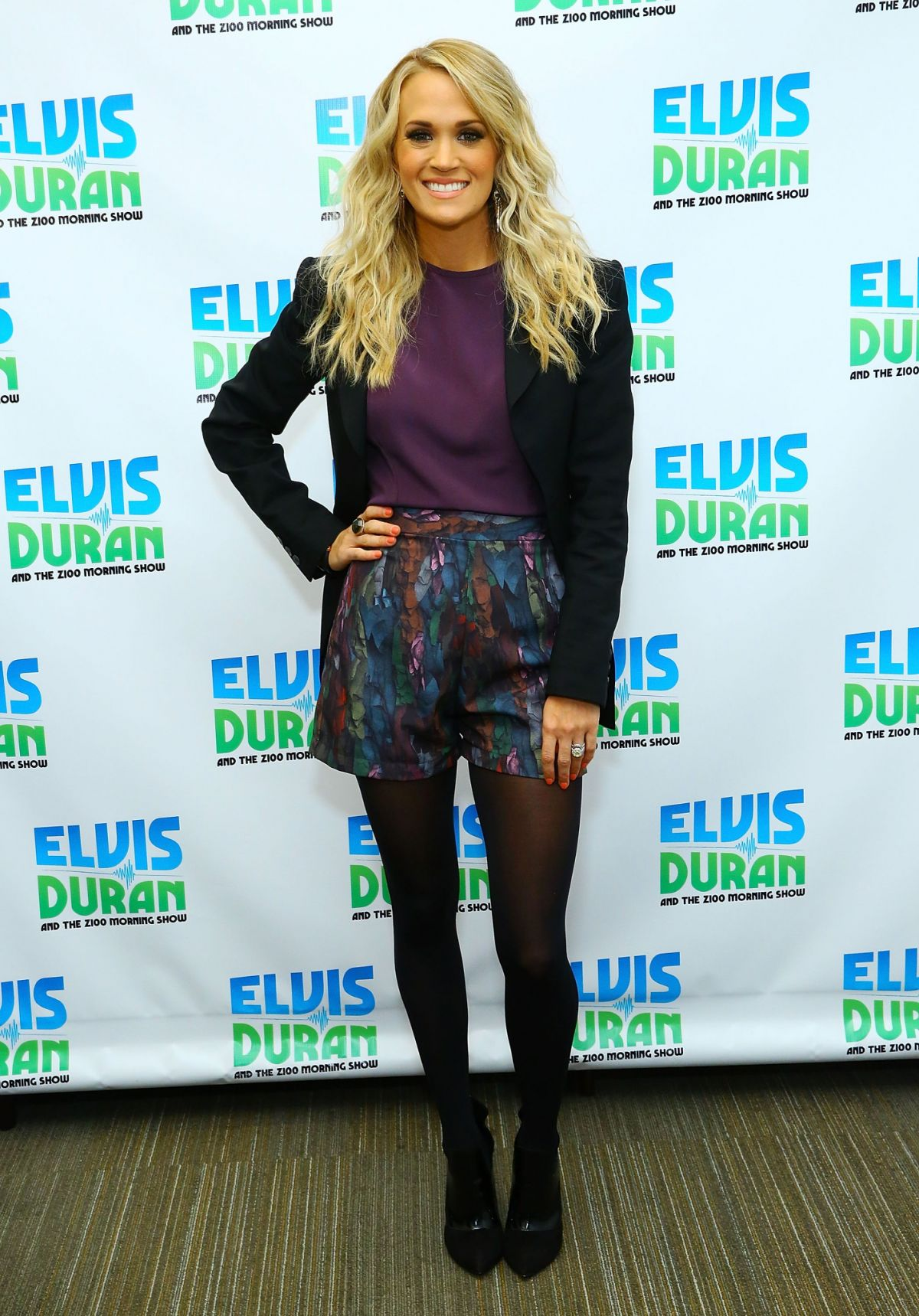 CARRIE UNDERWOOD at Elvis Duran Z100 Morning Show in New York 10/22/2015