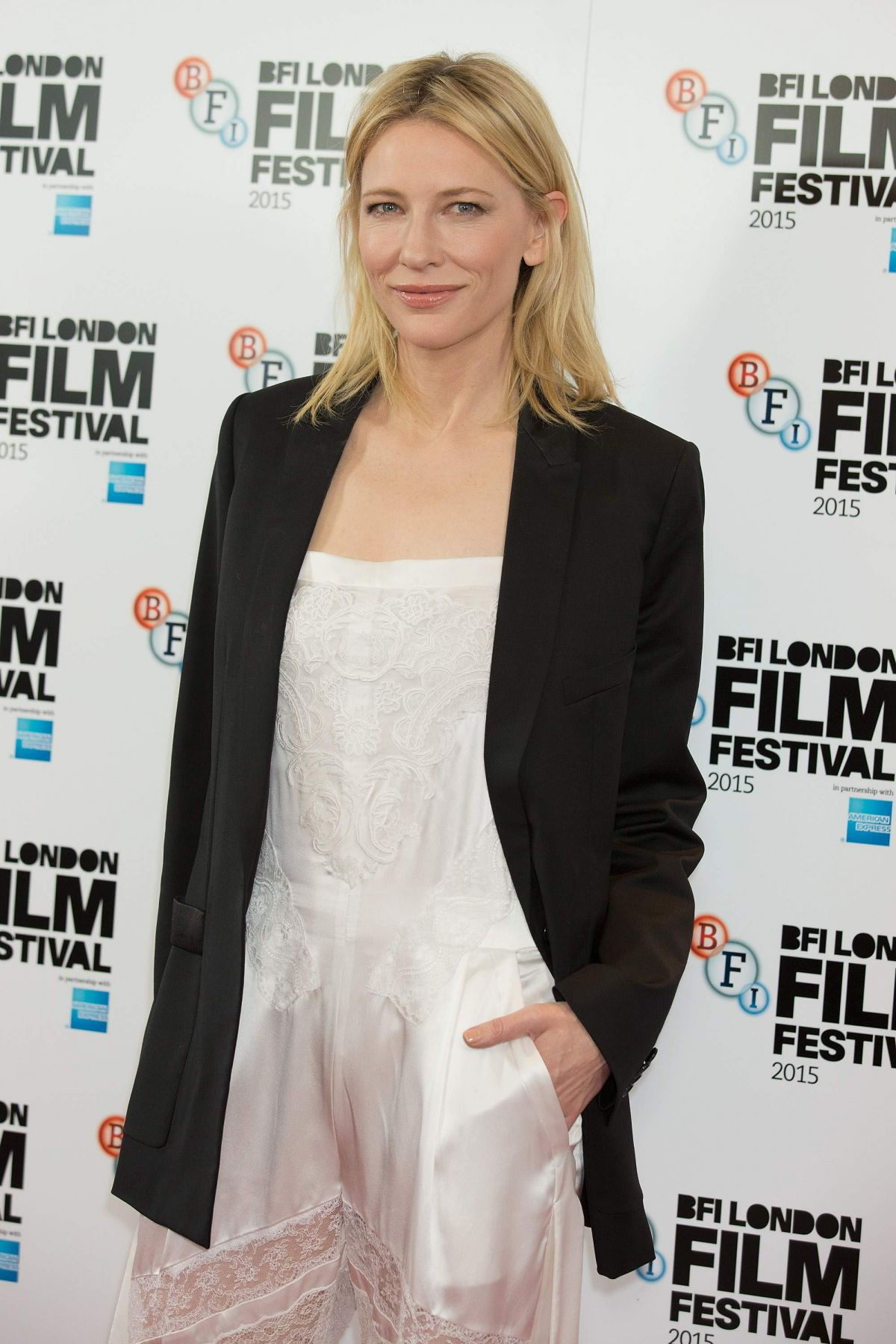 CATE BLANCHETT at Carol Photocall at 2015 BFI London Film Festival 10/14/2015