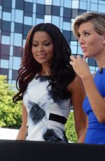 CHARISSA THOMPSON on the Set of Extra in Universal City 10/08/2015
