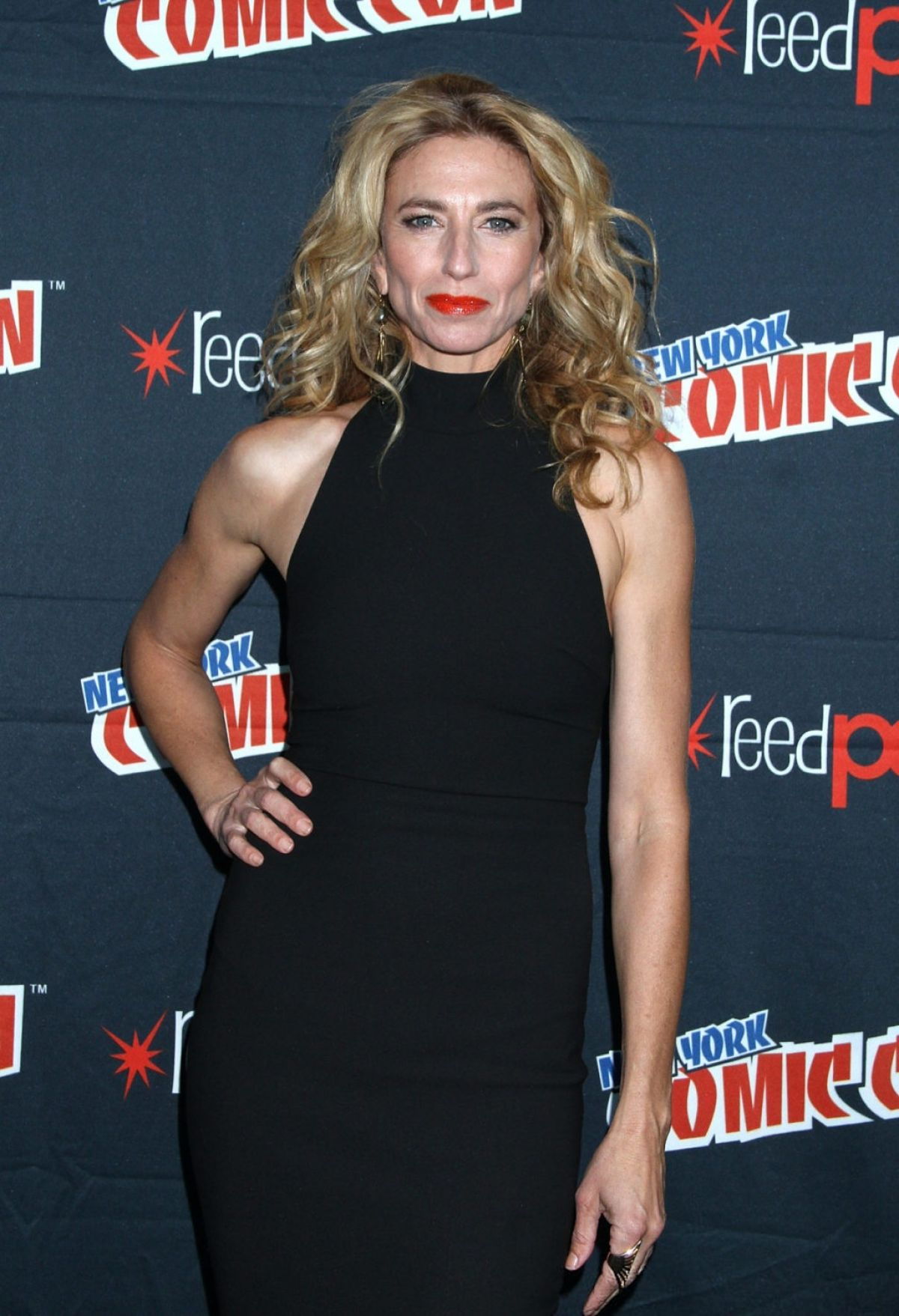 CLAUDIA BLACK at New York Comic-con 10/10/2015