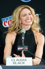 CLAUDIA BLACK at New York Comic-con 10/10/2015