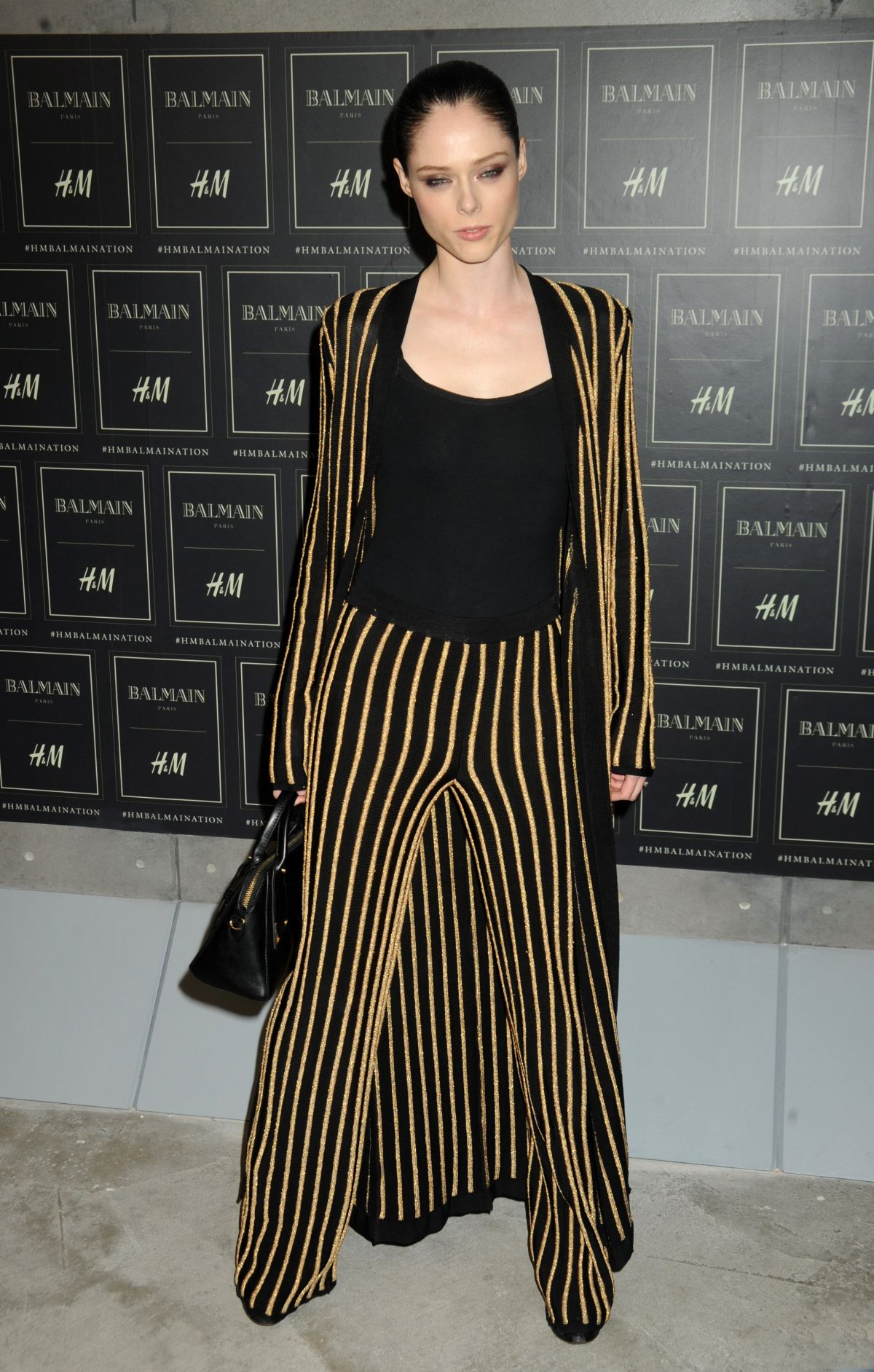 COCO ROCHA at Balmain X H&M Collection Launch in New York 10/20/2015