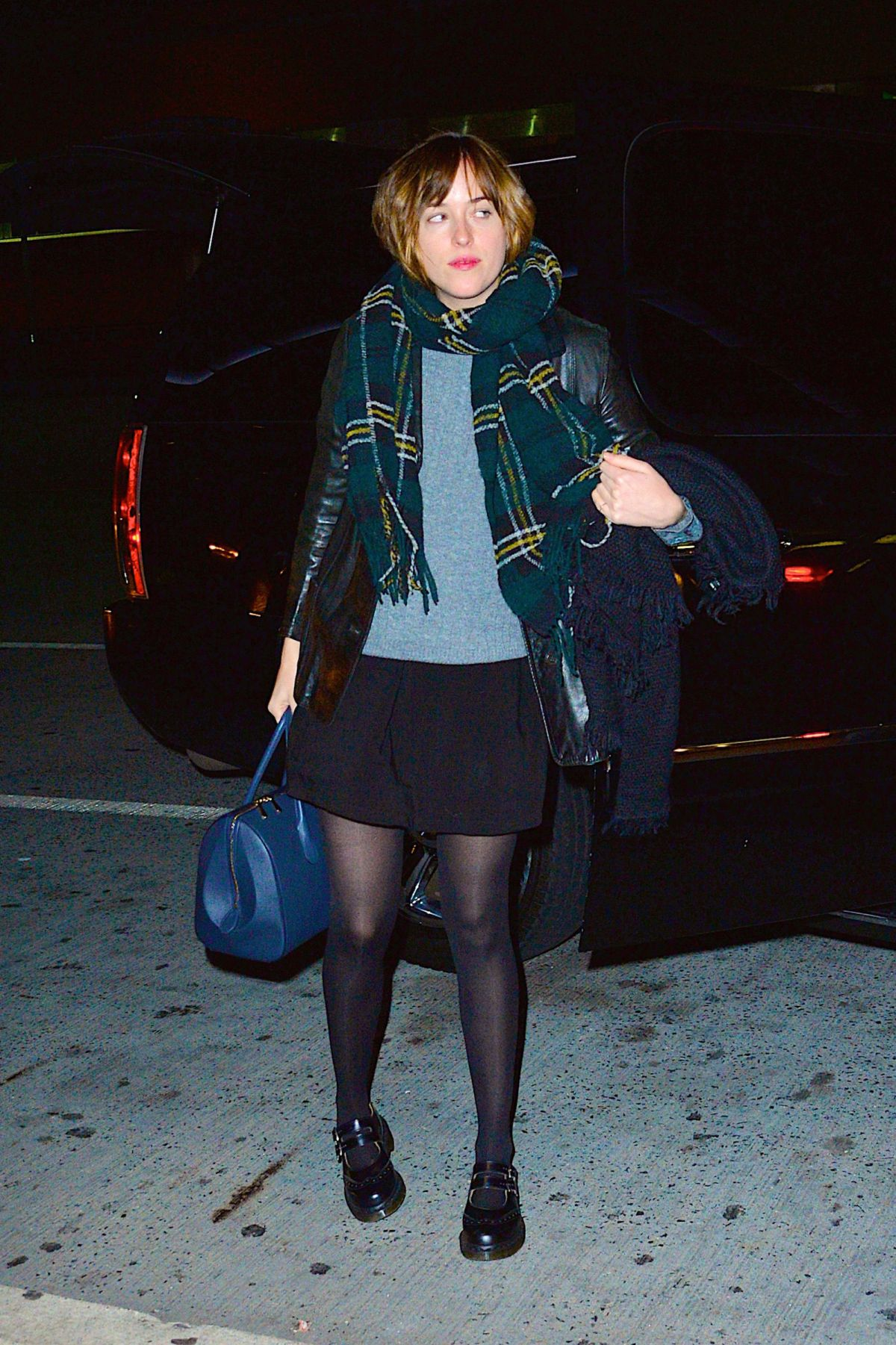 DAKOTA JOHNSON Arrives at JFK Airport in New York 10/18/2015