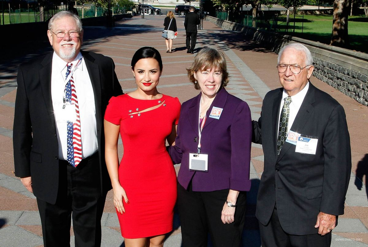 c66718ac2de DEMI LOVATO and Delegates from Texas at National Council's Hill Day in  Washington 10/06