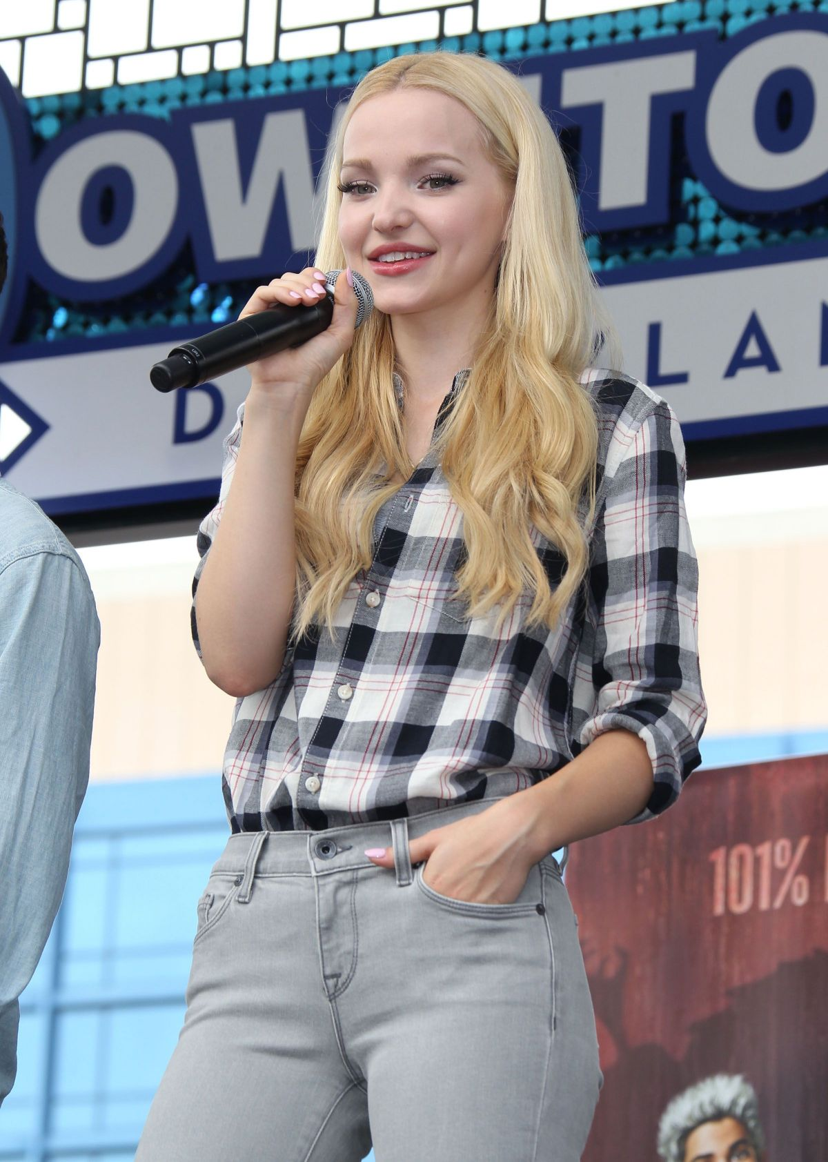 DOVE CAMERON at Descendants Stars at Downtown Disney in Anaheim 10/17/2015