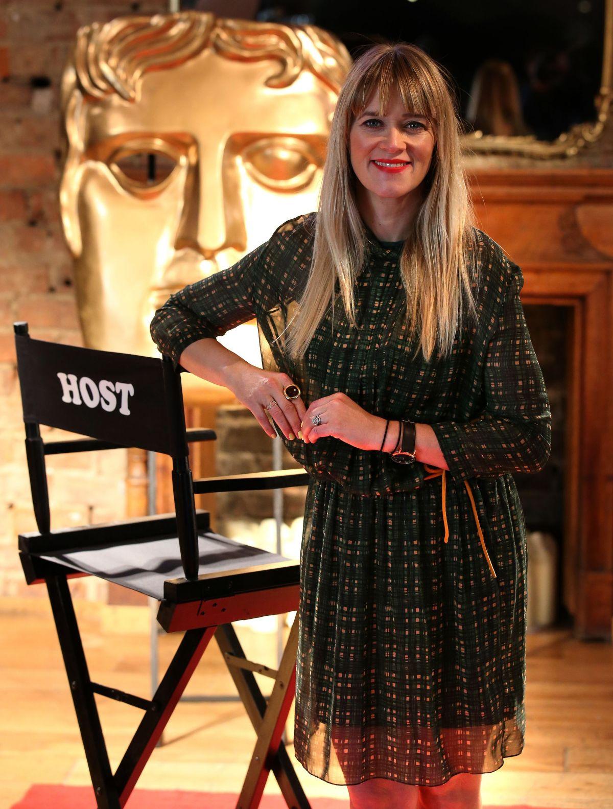 EDITH BOWMAN at British Academy Scotland Awards Host Photoshoot in Glasgow 10/13/2015