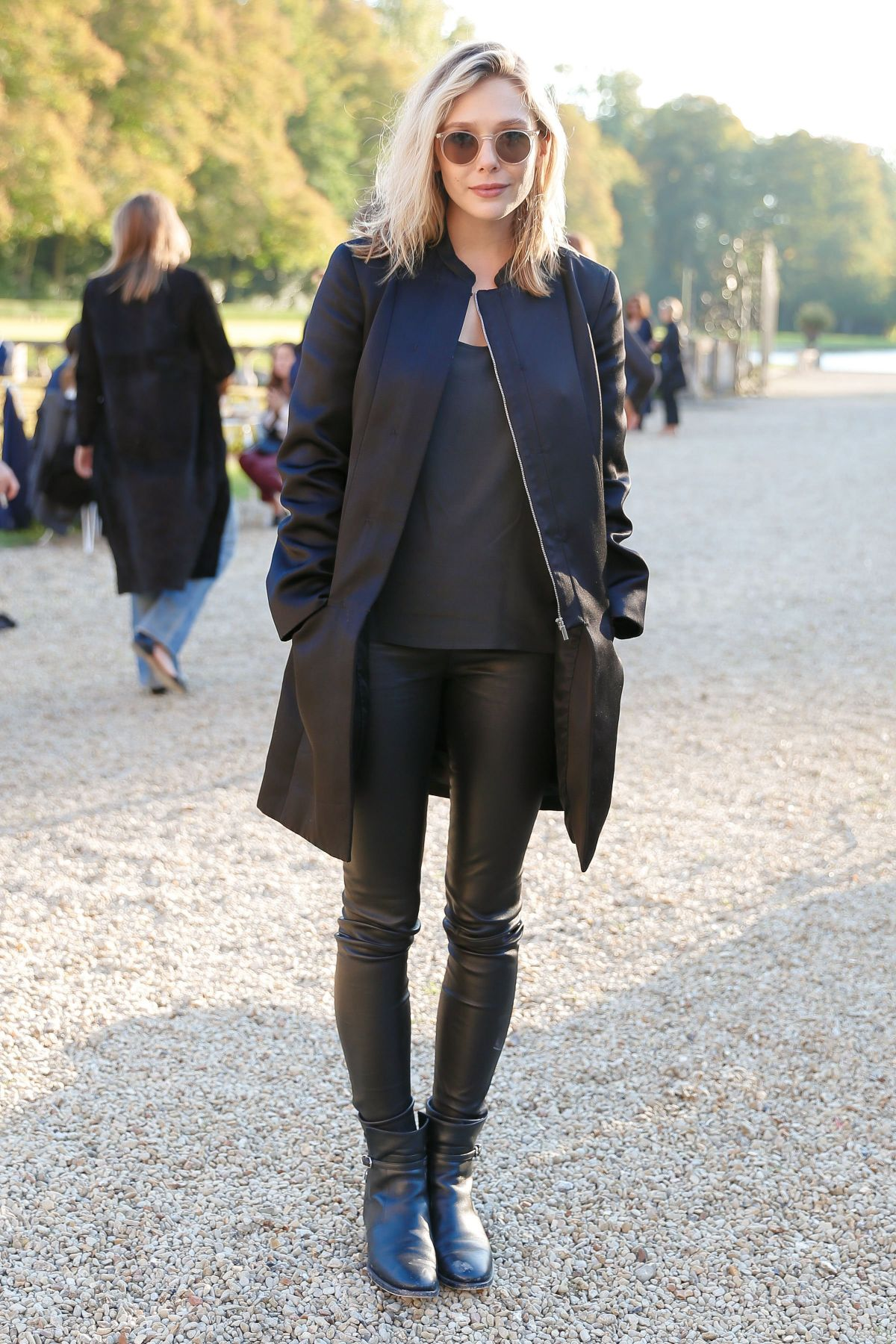 ELIZABETH OLSEN at The Row Fashion Show at Paris Fashion Week 10/01/2015