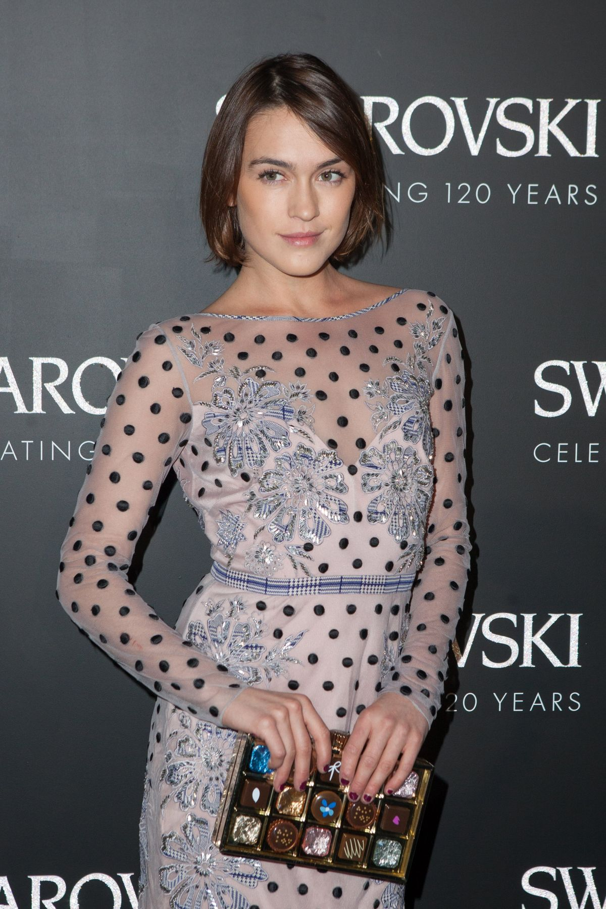 ELLA CATLIFF at Swarovski 120 x Rizzoli Exhibition and Cocktail in Paris 09/30/2015