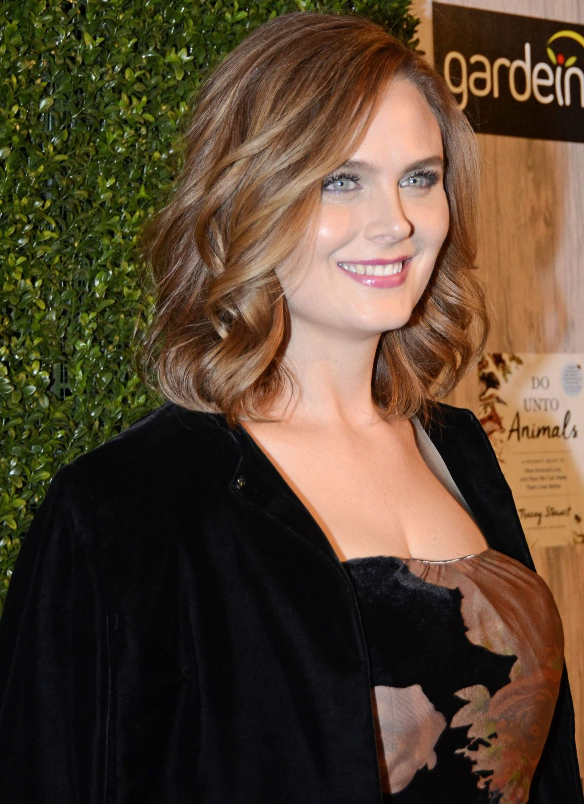 EMILY DESCHANEL at Farm Sanctuary