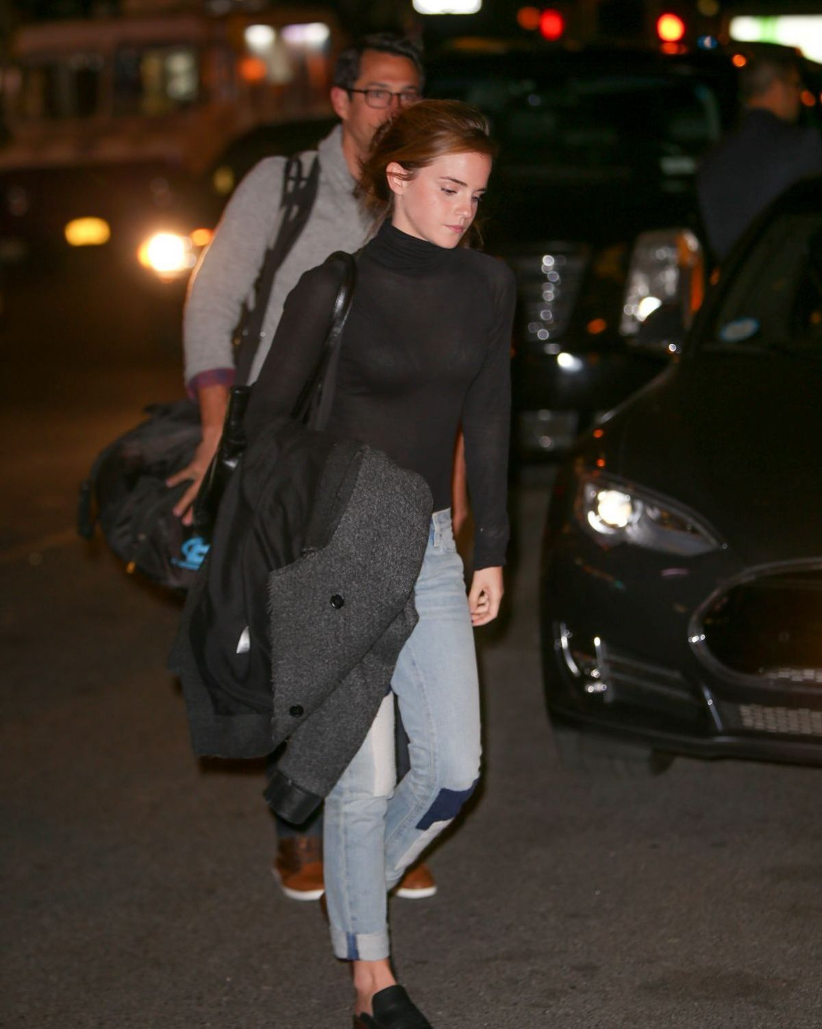 EMMA WATSON Out and About in New York 10/30/2015 – HawtCelebs