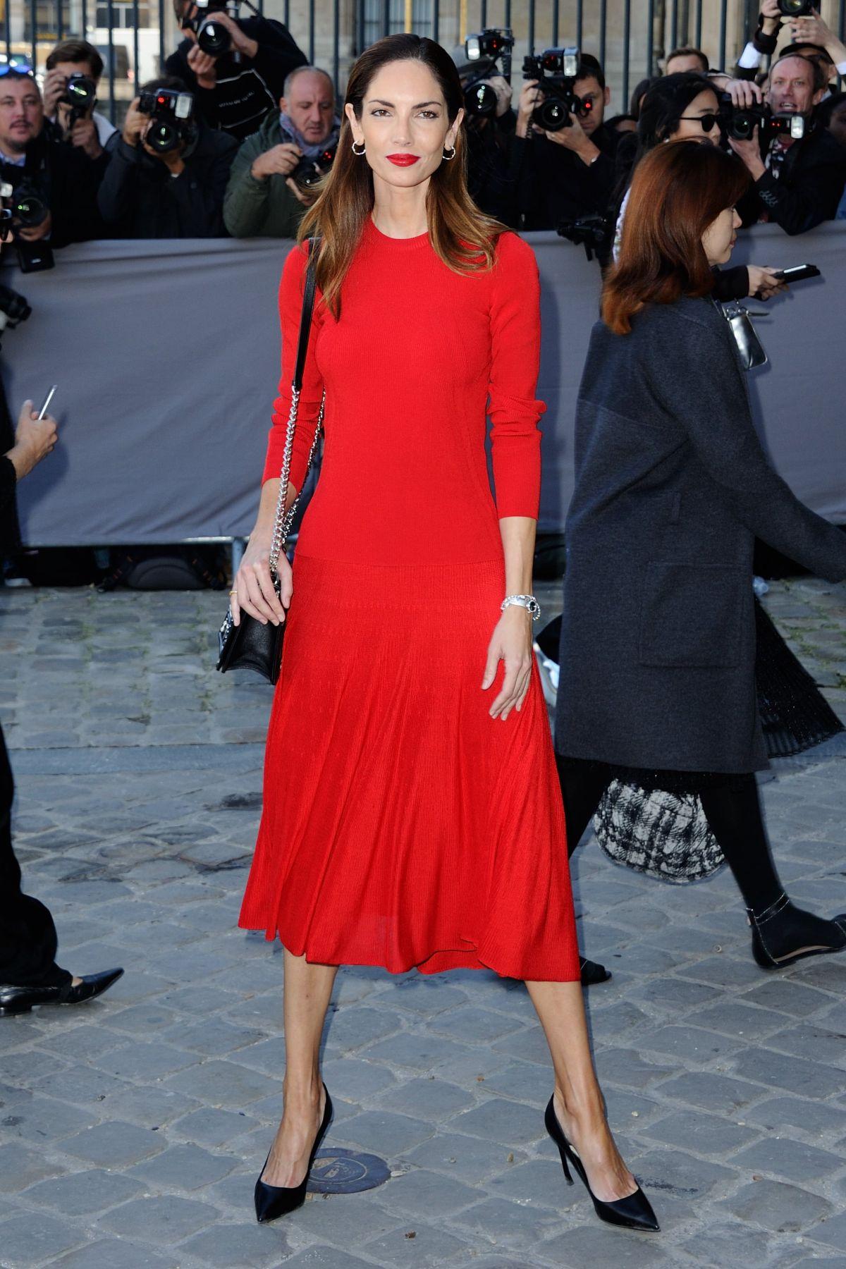 EUGENIA SILVA at Christian Dior Fashion Show in Paris 10/02/2015