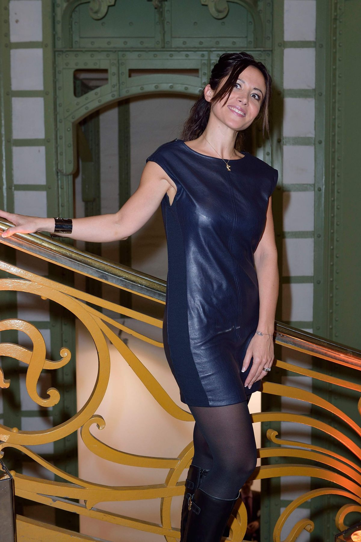 FABIENNE CARAT at Fiac 2015 Orange Party Inauguration at Grand Palais in Paris 10/21/2015