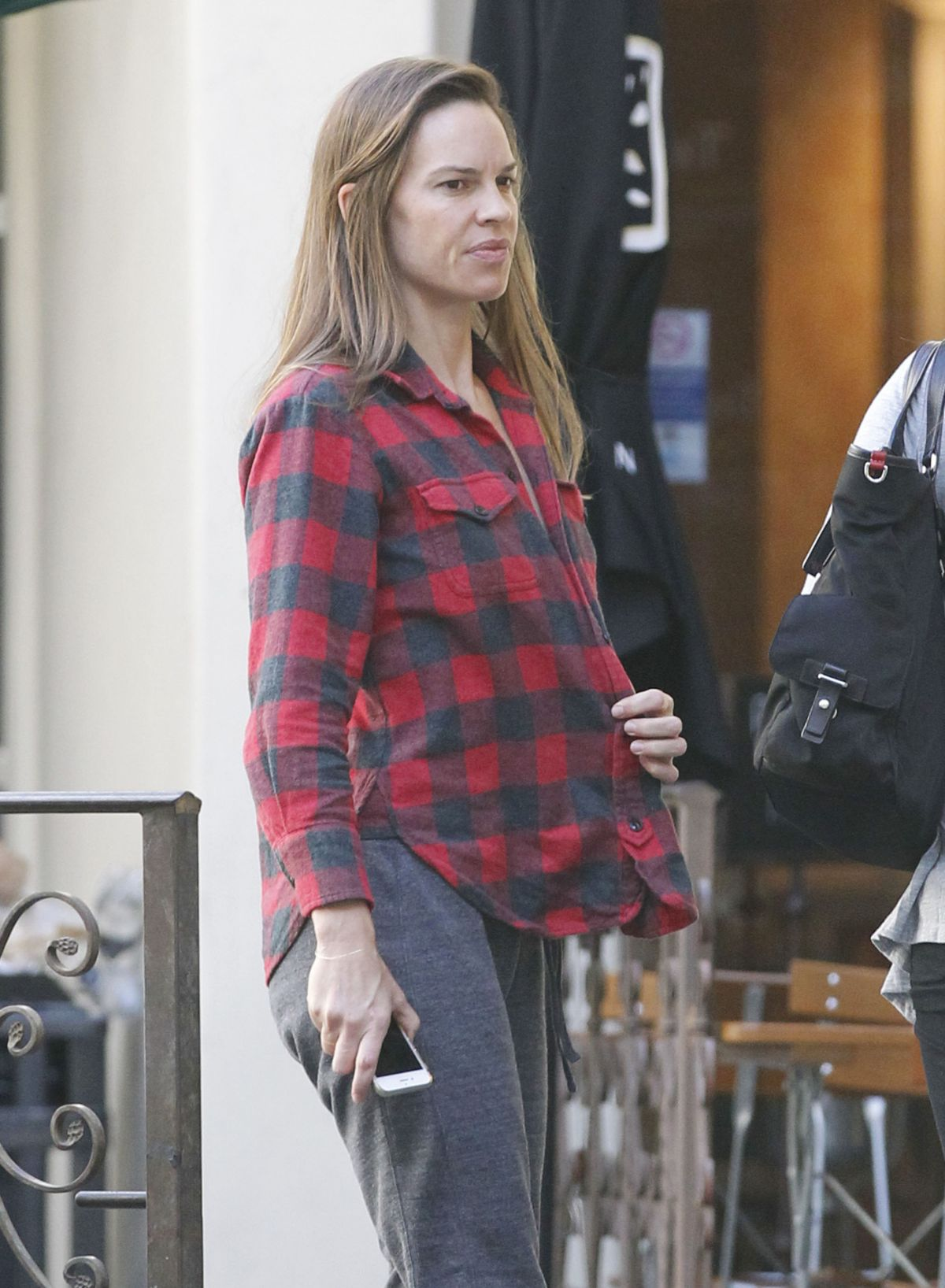 HILARY SWANK Out for Breakfast in Brentwood 10/07/2015