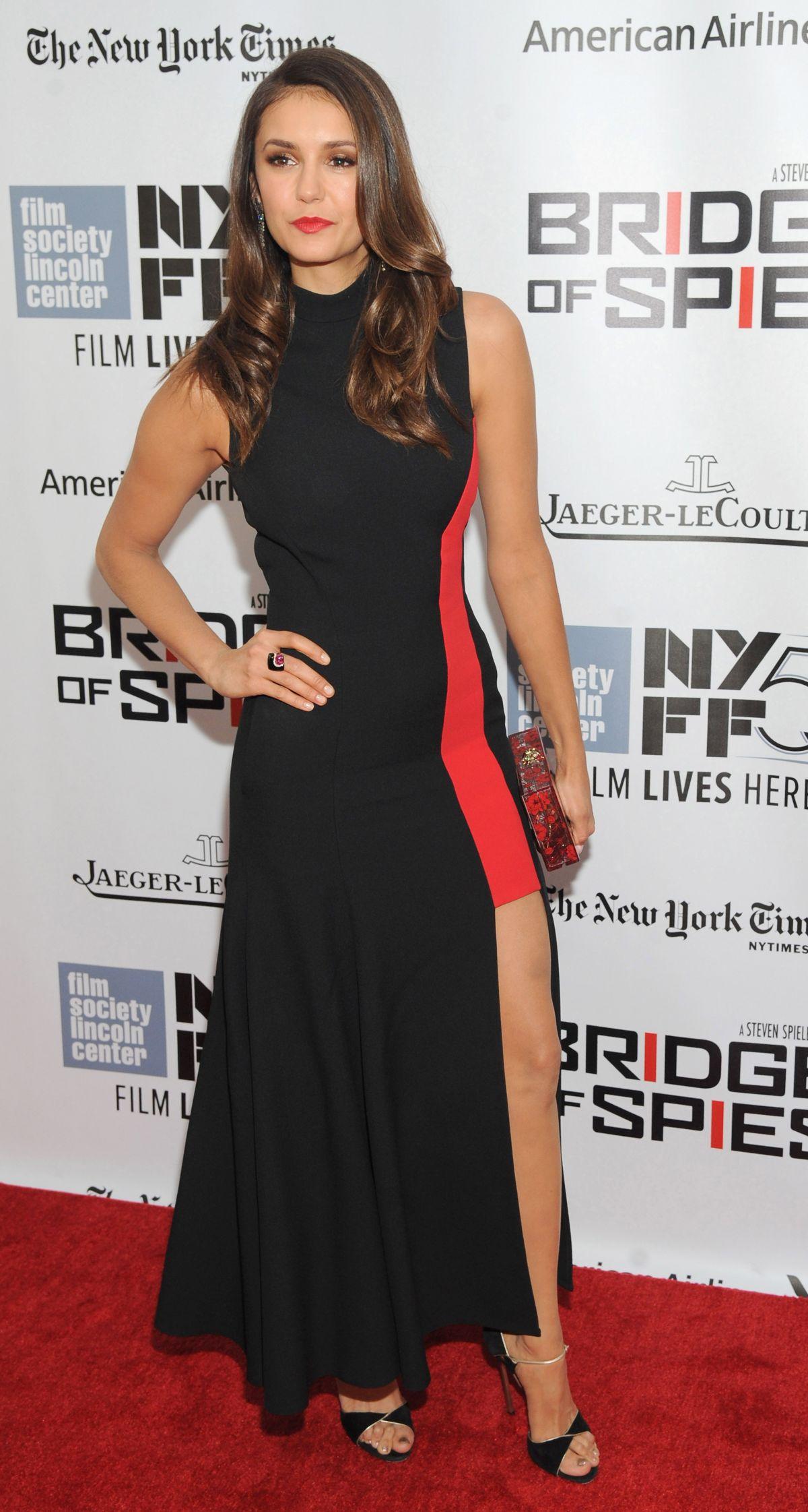 nina dobrev at bridge of spies premiere at the 53rd new york film festival 10 04 2015 hawtcelebs. Black Bedroom Furniture Sets. Home Design Ideas