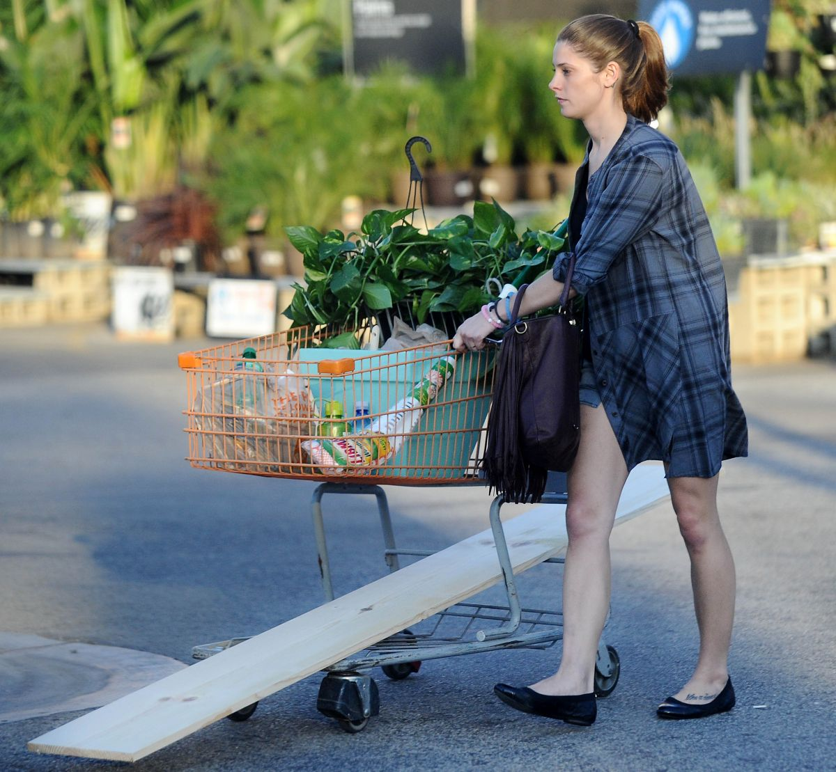 ASHLEY GREENE Out Shopping At Home Depot In Burbank 10/18