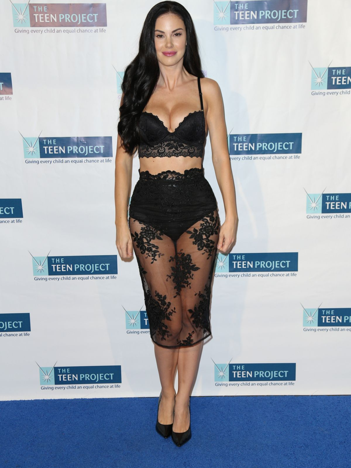 JAYDE NICOLE at The Teen Project Hollywood Red Carpet Event 10/12/2015