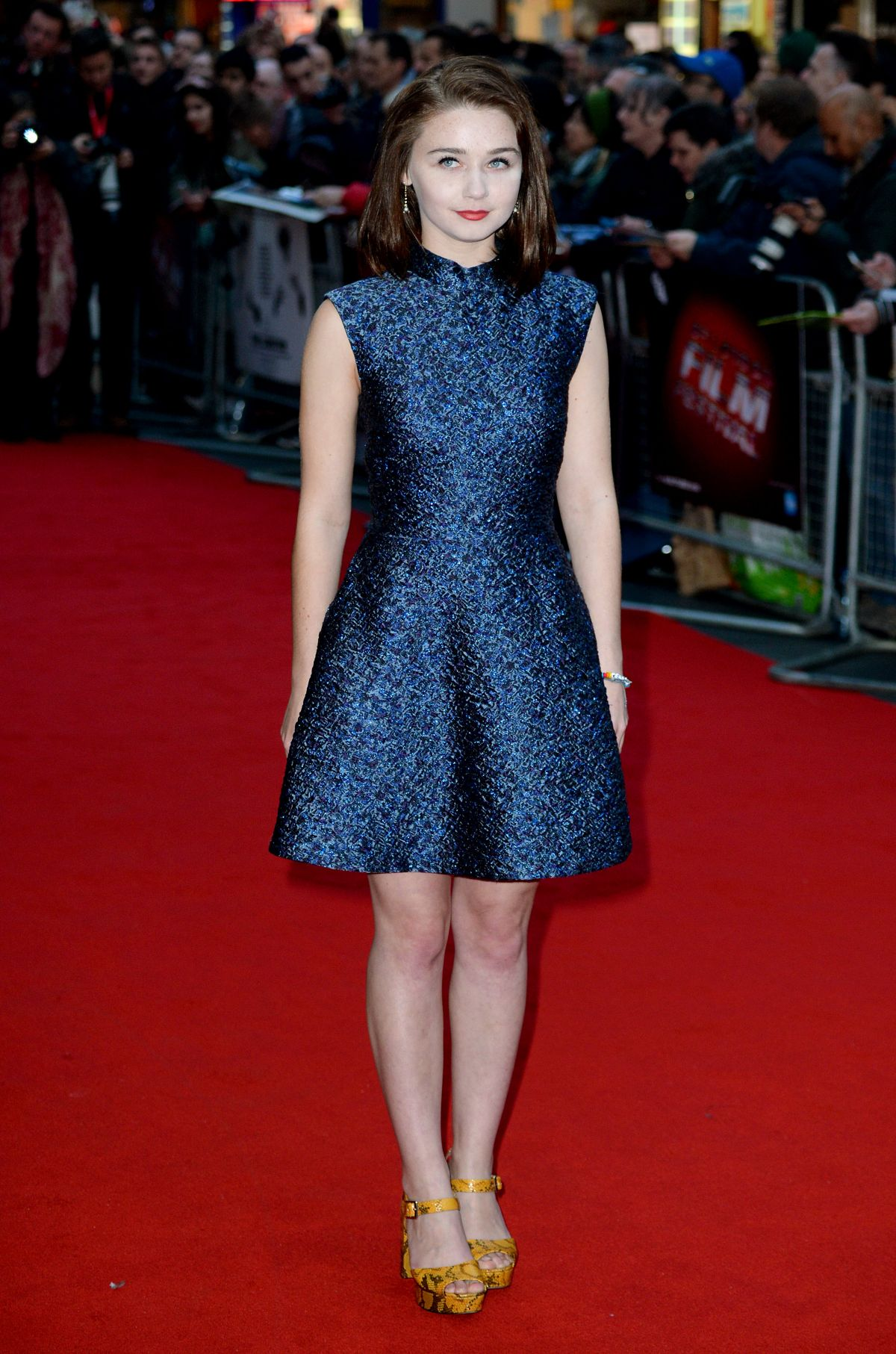 JESSICA BARDEN at The Lobster Premiere at 2015 BFI London Film Festival 10/13/2015 - HawtCelebs
