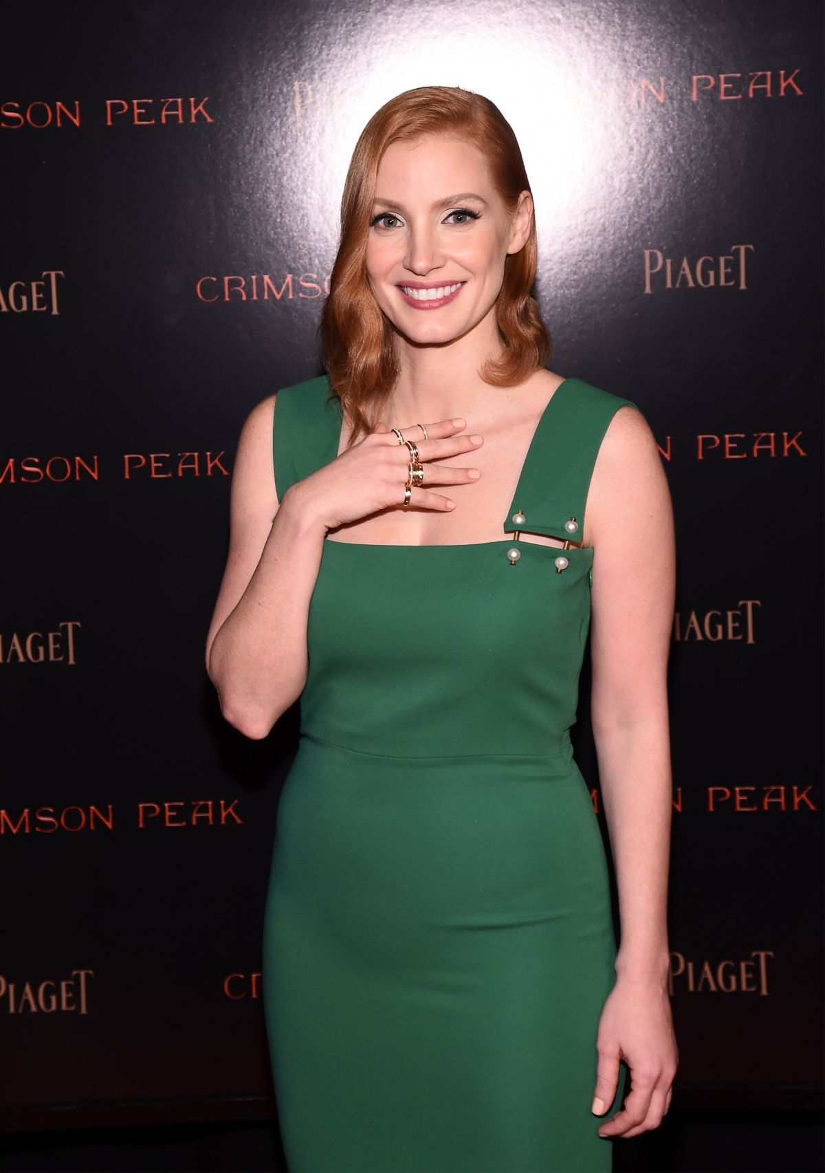 JESSICA CHASTAIN at Crimson Peak Premiere Co-hosted by