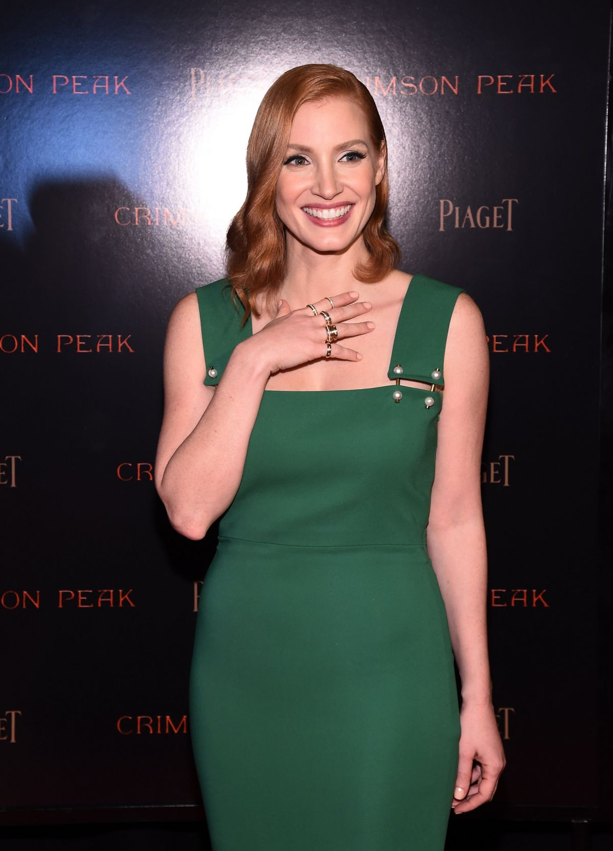 Jessica Chastain wearing a custom Prada dress at the AFI