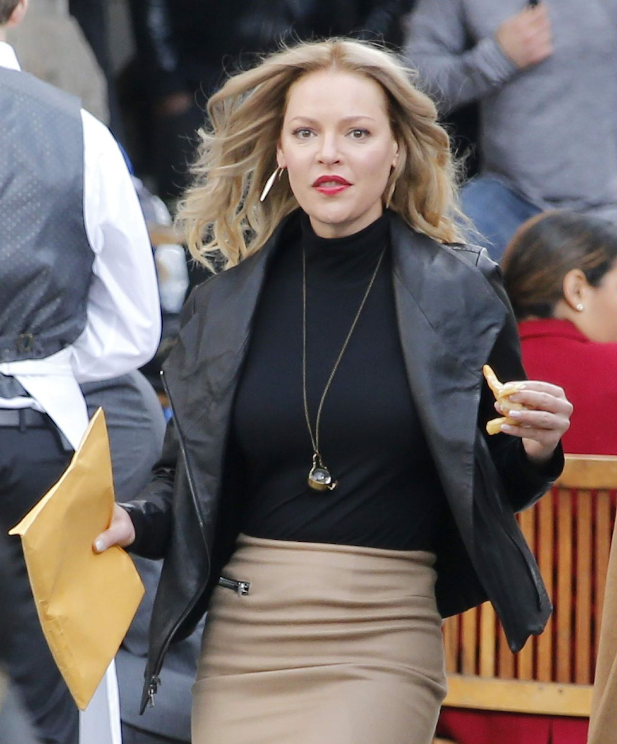 KATHERINE HEIGL on the Set of Doubt in New York 10/14/2015
