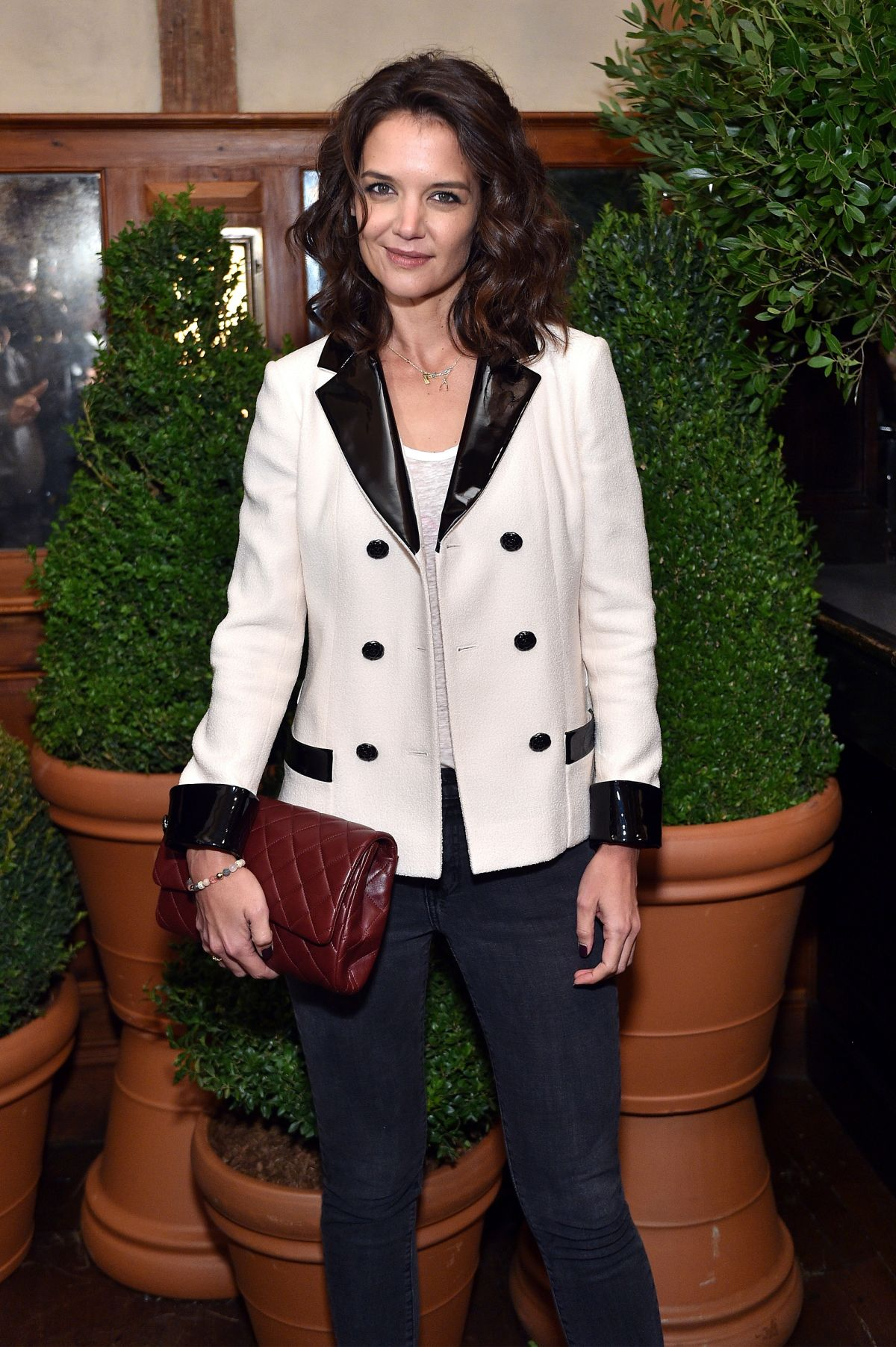 KATIE HOLMES at Through Her Lens: The Tribeca Chanel Women's Filmmaker Program Inaugural Luncheon in New York 10/26/2015