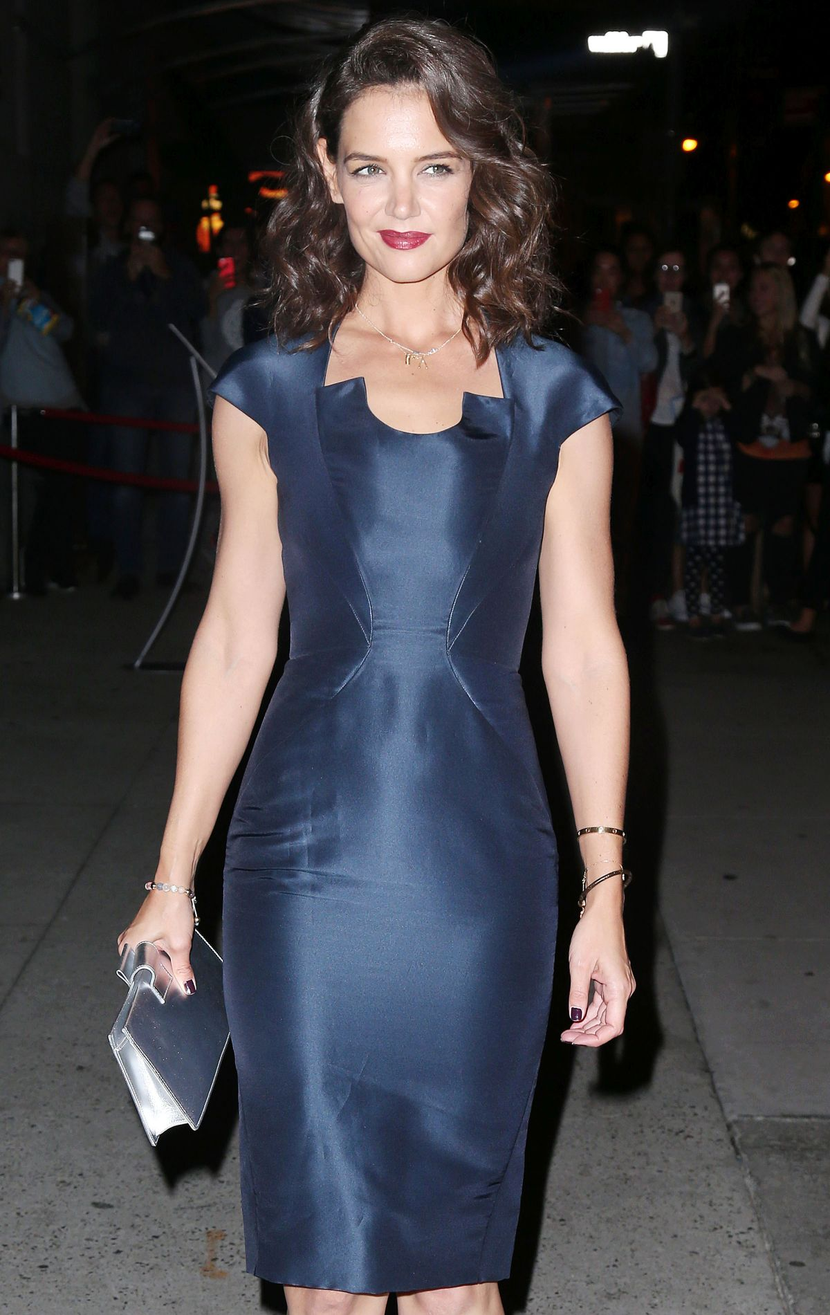 KATIE HOLMES Night Out in New York 10/22/2015
