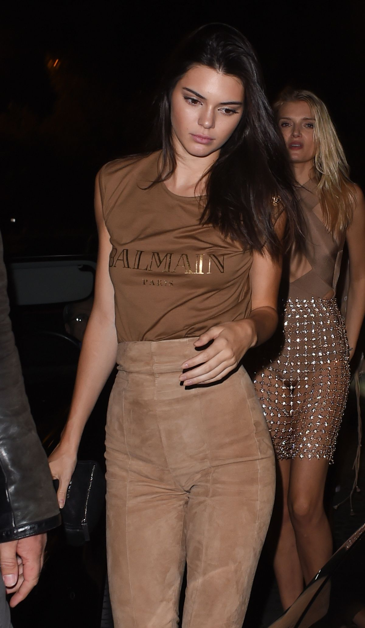 retail prices on feet images of timeless design KENDALL JENNER at Balmain Fashion Show After-party in Paris ...