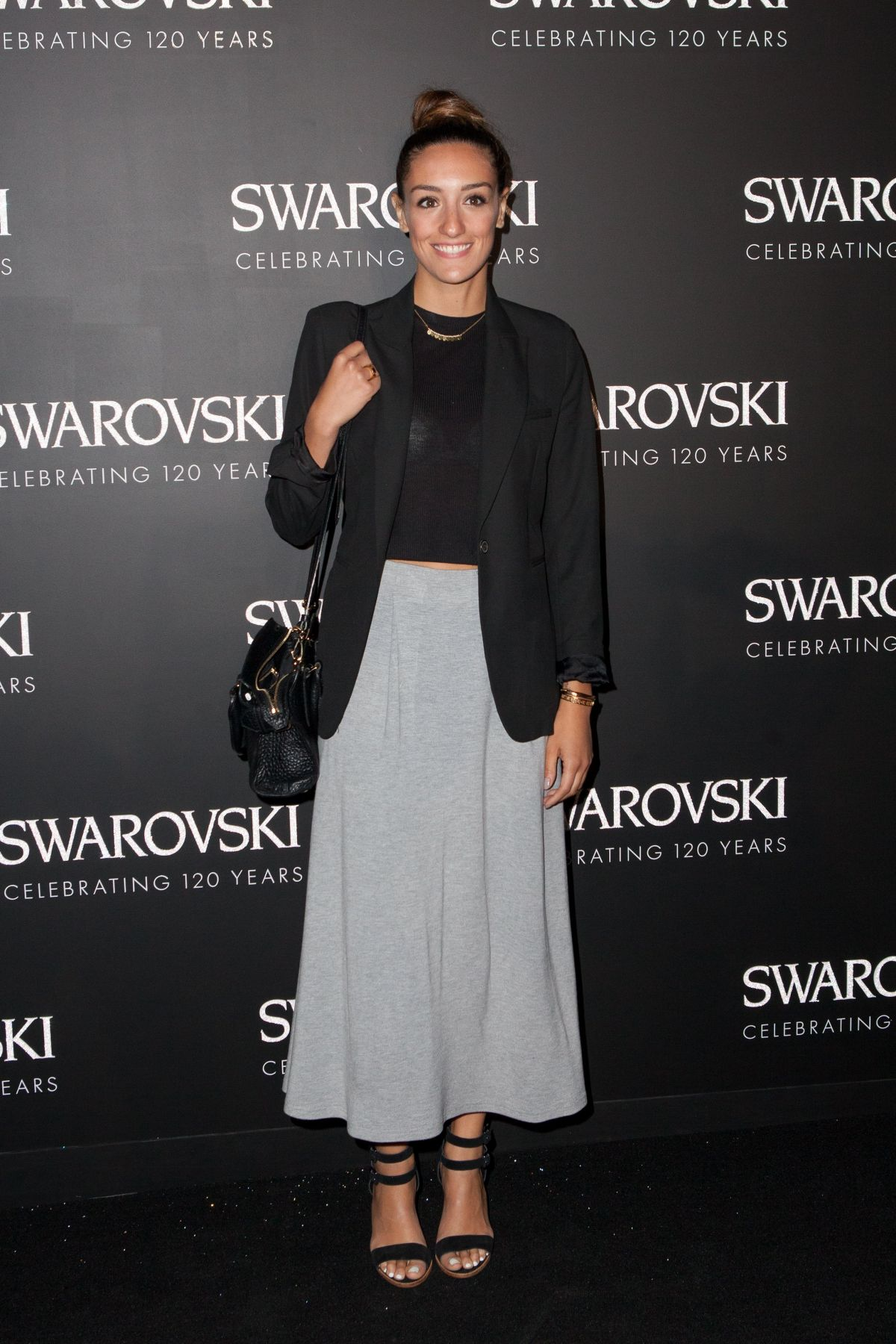 KENZA ZOUITEN at Swarovski 120 x Rizzoli Exhibition and Cocktail in Paris 09/30/2015