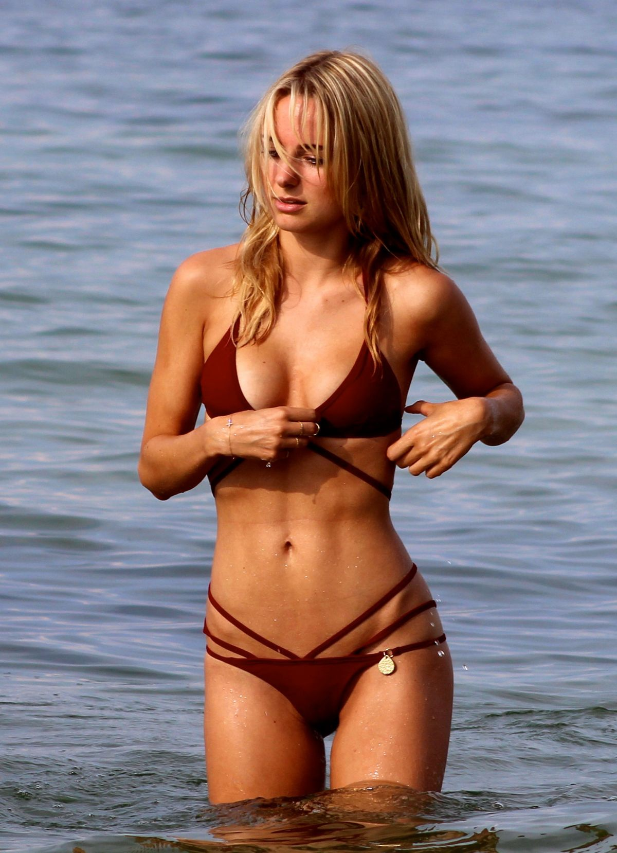 KIMBERLEY GARNER in Bikini at a Beach in St. Tropez