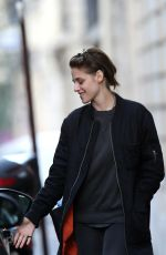 KRISTEN STEWART Out and About in Paris 10/26/2015