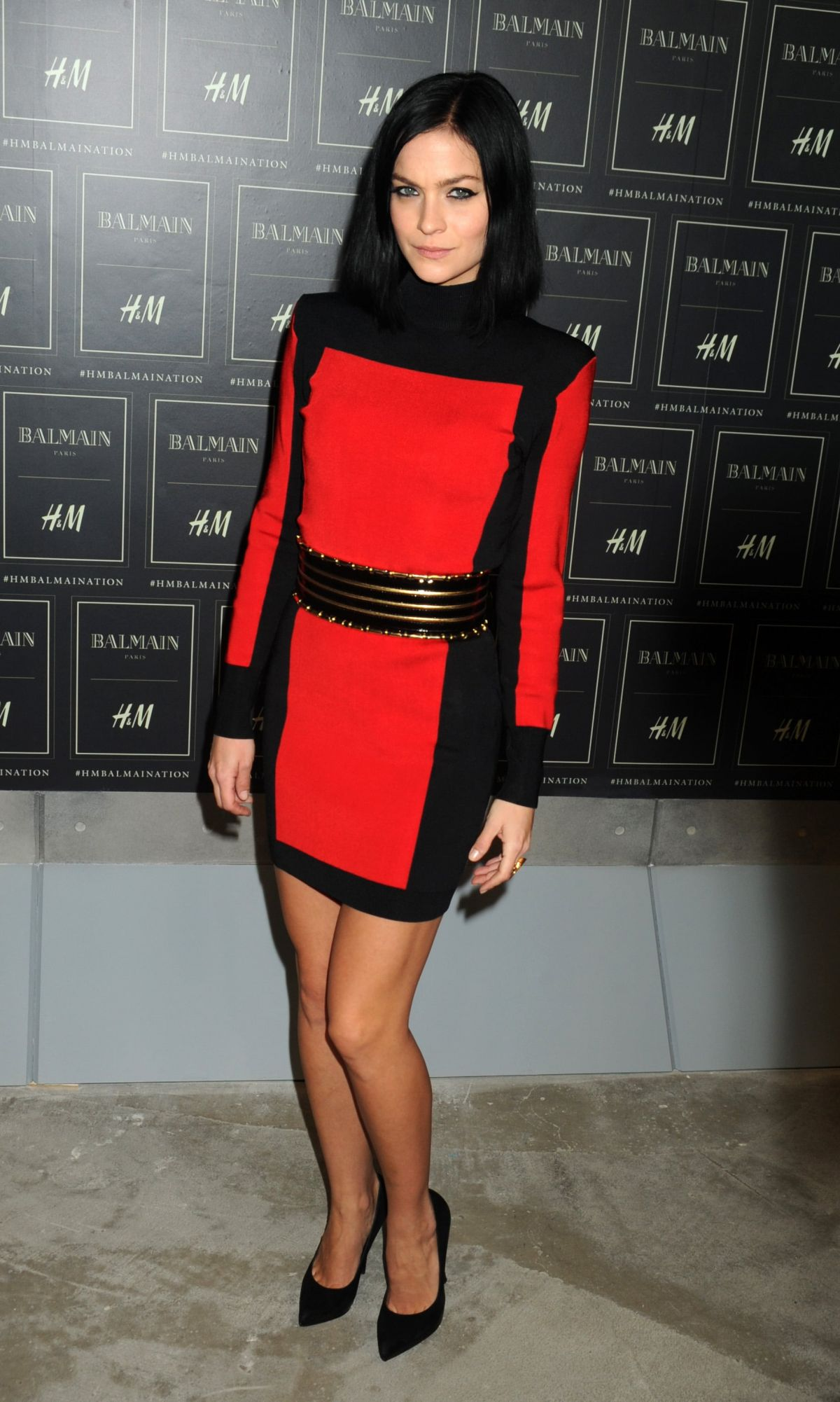 LEIGH LEZARK at Balmain X H&M Collection Launch in New York 10/20/2015