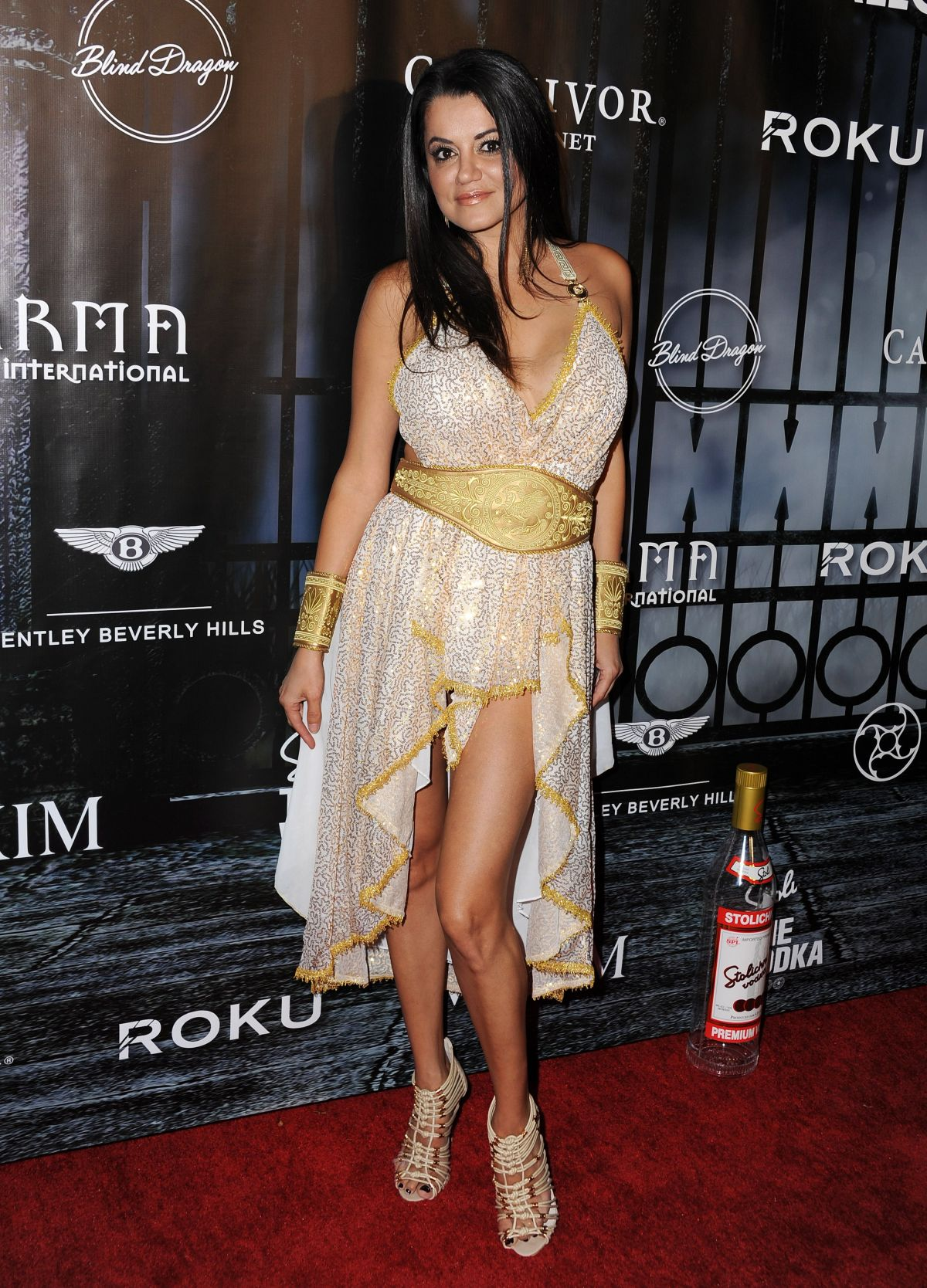 LEILA GHARACHEDAGHI at Maxim Magazine's Official Halloween Party in Beverly Hills 10/24/2015