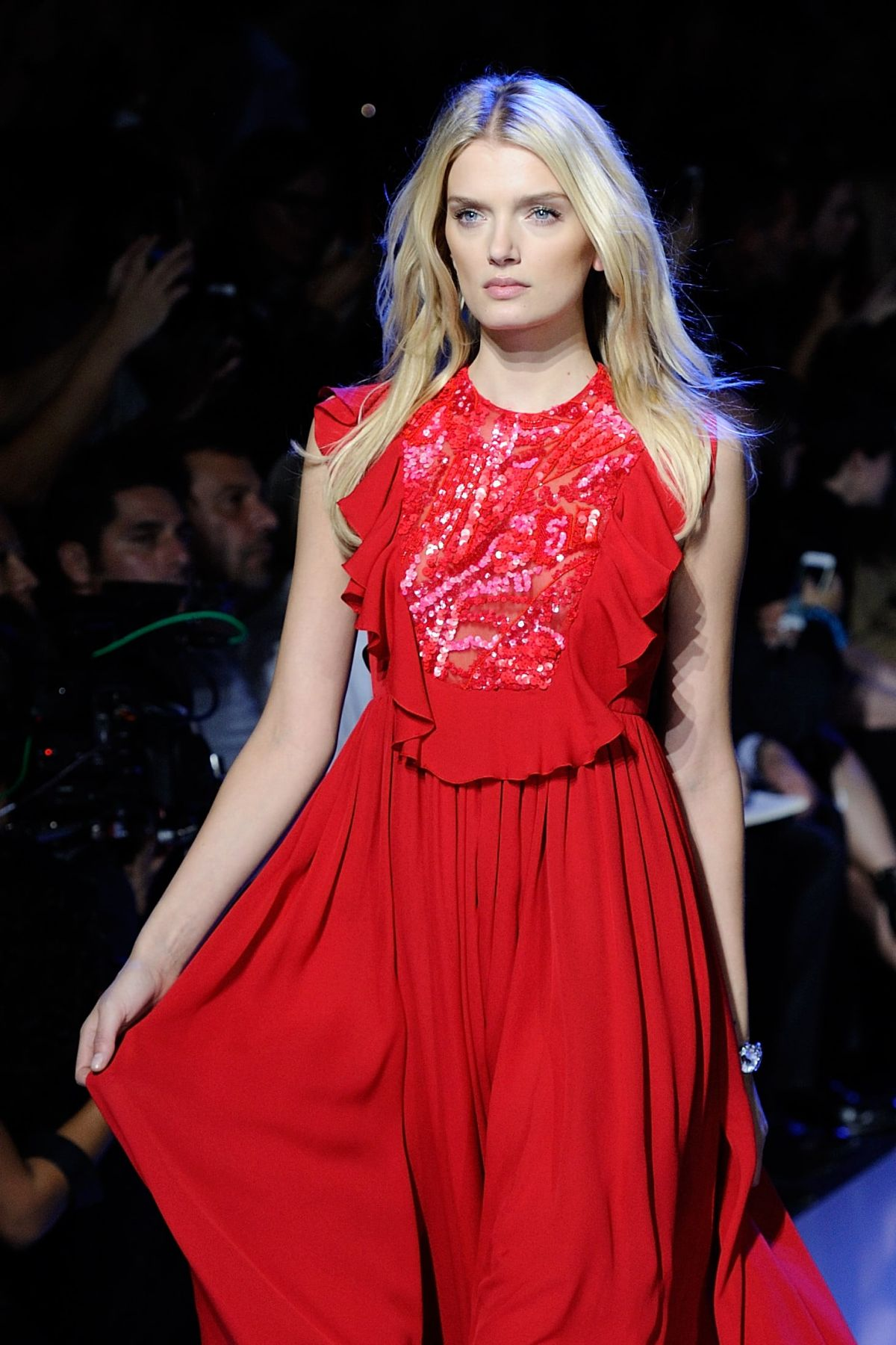 LILY DONALDSON at Elie Saab Fashion Show at Paris Fashion Week 10/03/2015
