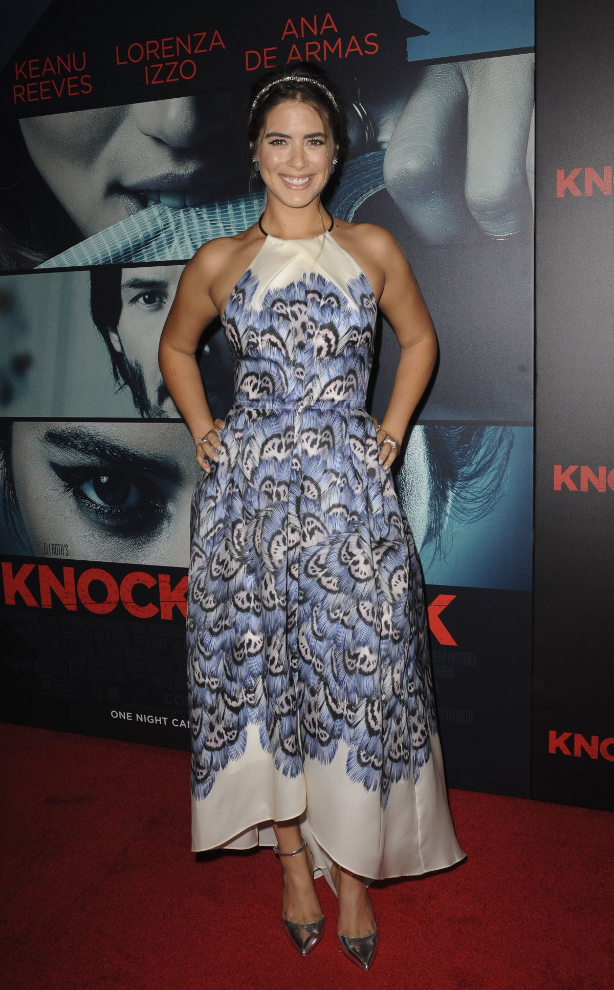 LORENZA IZZO at Knock Knock Premiere in Hollywood 10/07/2015
