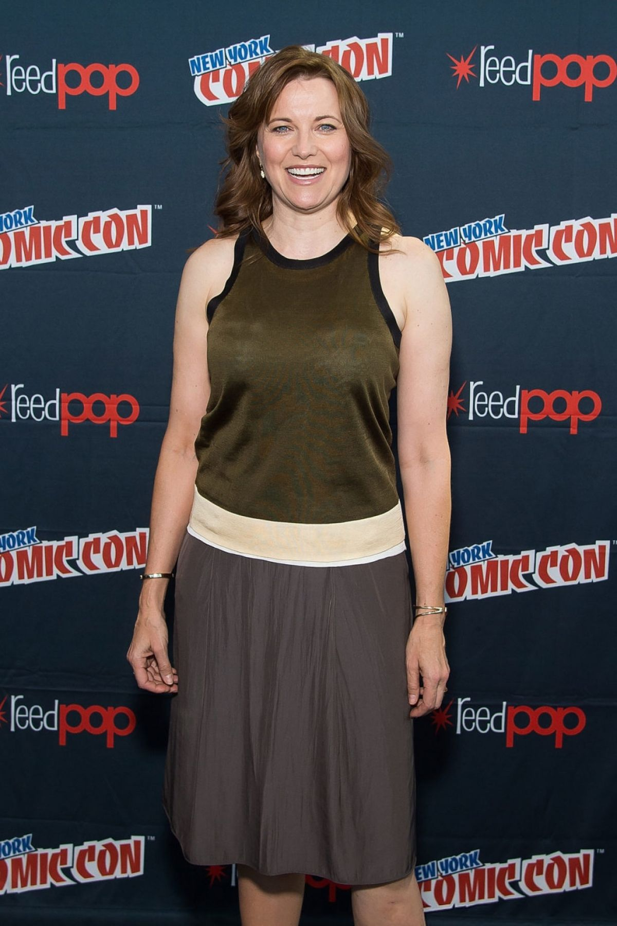 LUCY LAWLESS at Ash vs Evil Dead Panel at Comic-con in New York 10/10/2015