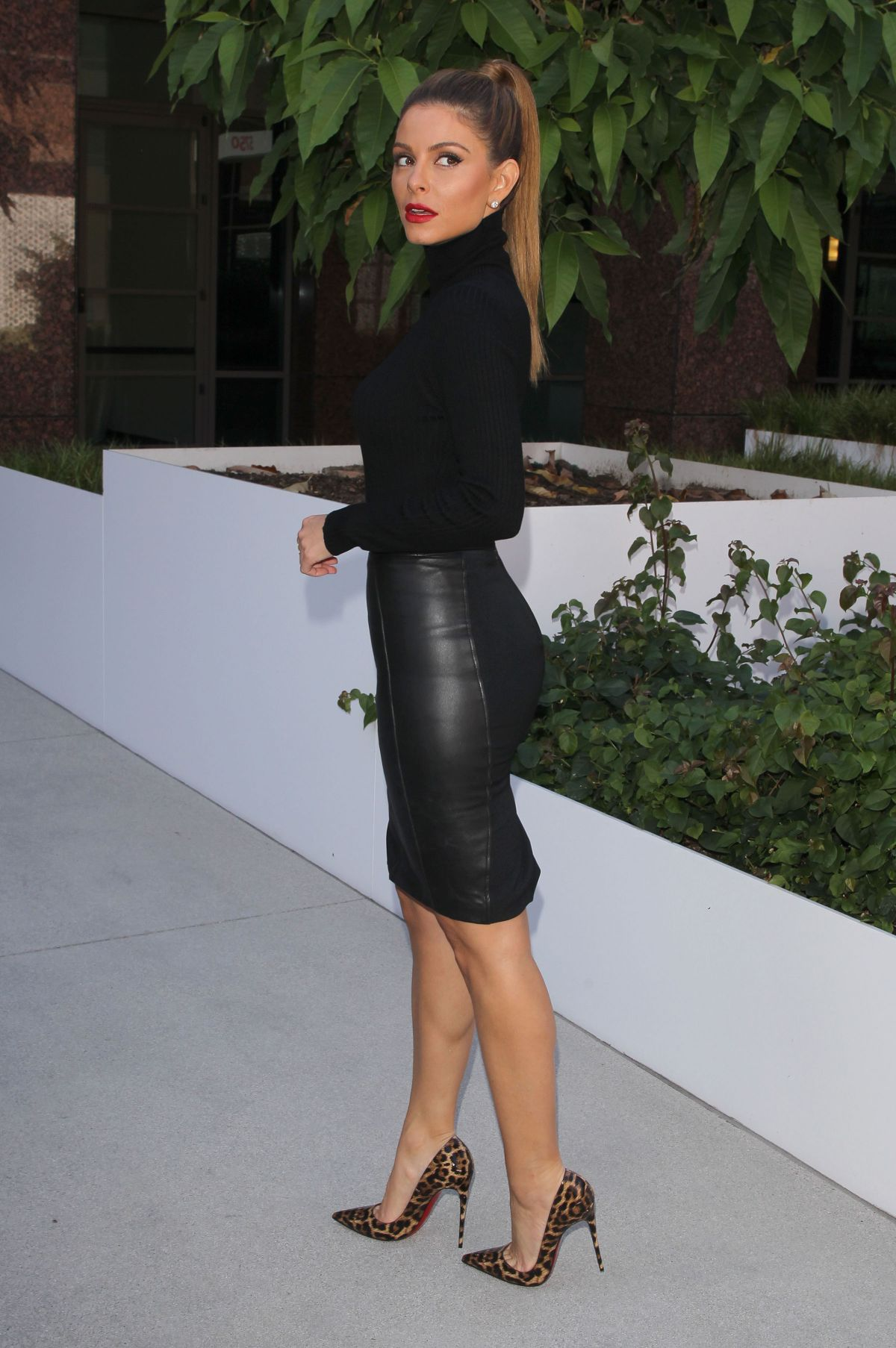 In Leather Skirt 110