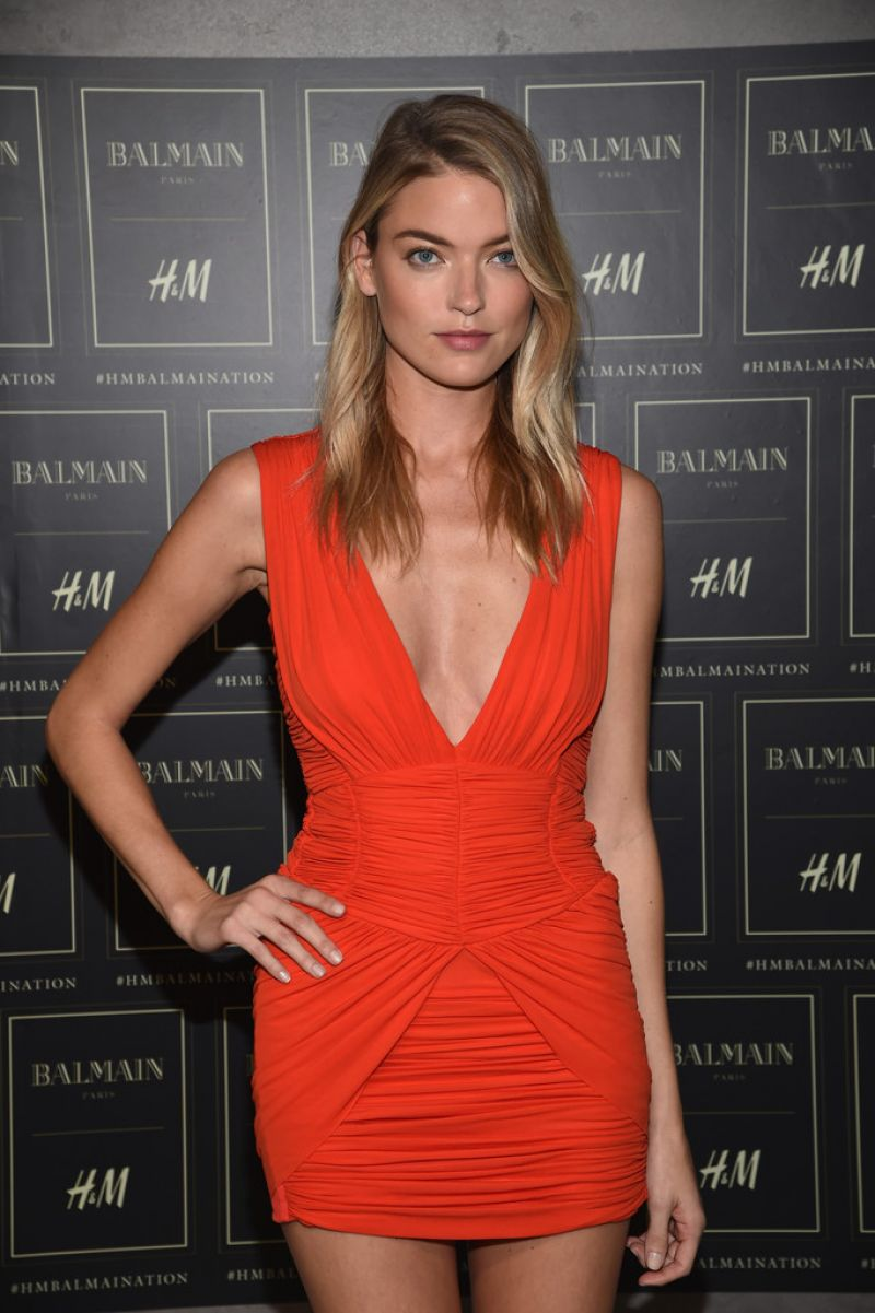 MARTA HUNT at Balmain X H&M Collection Launch in New York 10/20/2015