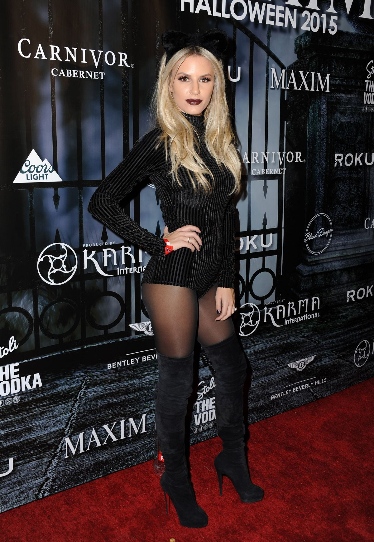 MORGAN STEWART at Maxim Magazine's Official Halloween Party in Beverly Hills 10/24/2015