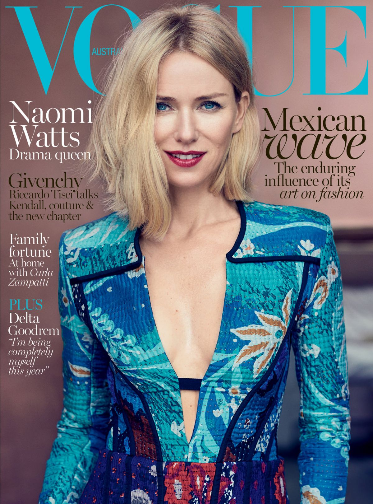 NAOMI WATTS in Vogue Magazne, Australia October 2015 Issue