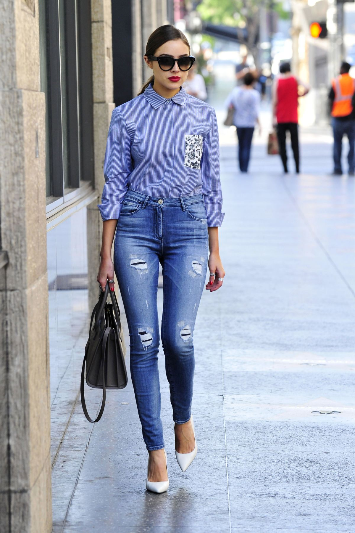 OLIVIA CULPO in Tight Ripped Jeans Out in West Hollywood 10/15 ...