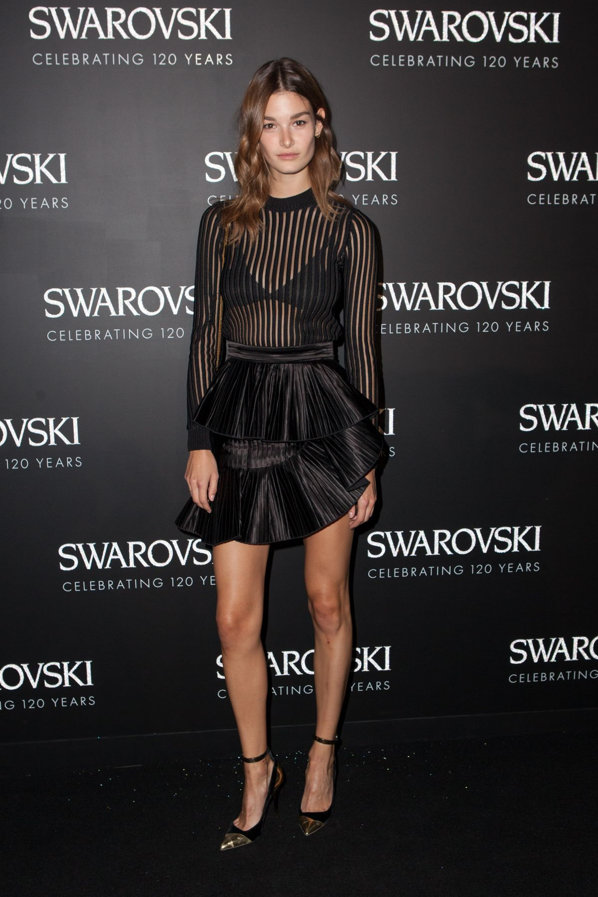 OPHELIE GUILLERMAND at Swarovski 120 x Rizzoli Exhibition and Cocktail in Paris 09/30/2015