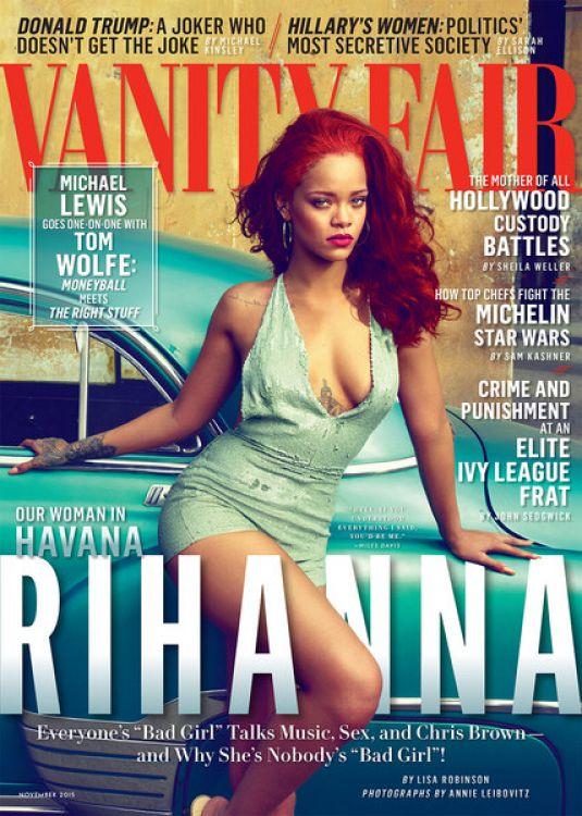 RIHANNA In Vanity Fair Magazine November 2015 Issue